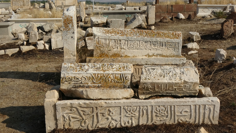 Some sarcophagi at the Seljuk-Kara Koyunlu Cemetery, Van, eastern Turkey, Sept. 21, 2020. (AA PHOTO)