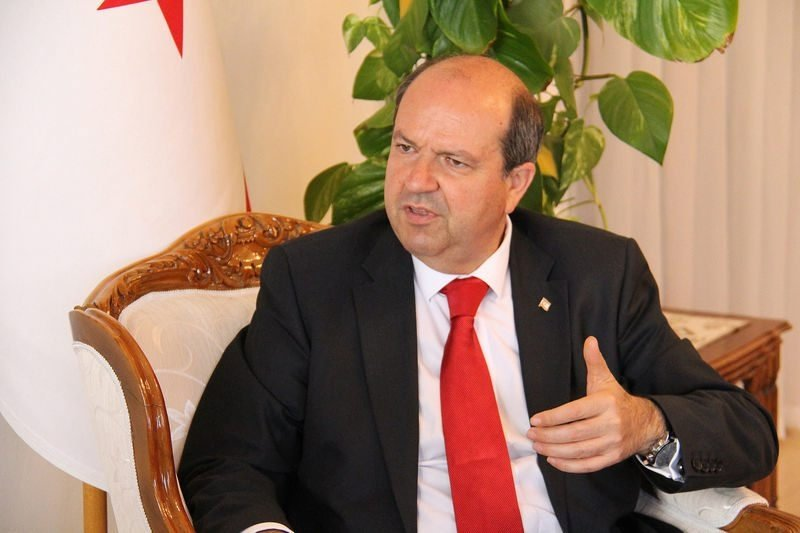 Prime Minister Ersin Tatar running in the presidential race as the head of the National Unity Party (UBP). (AA)