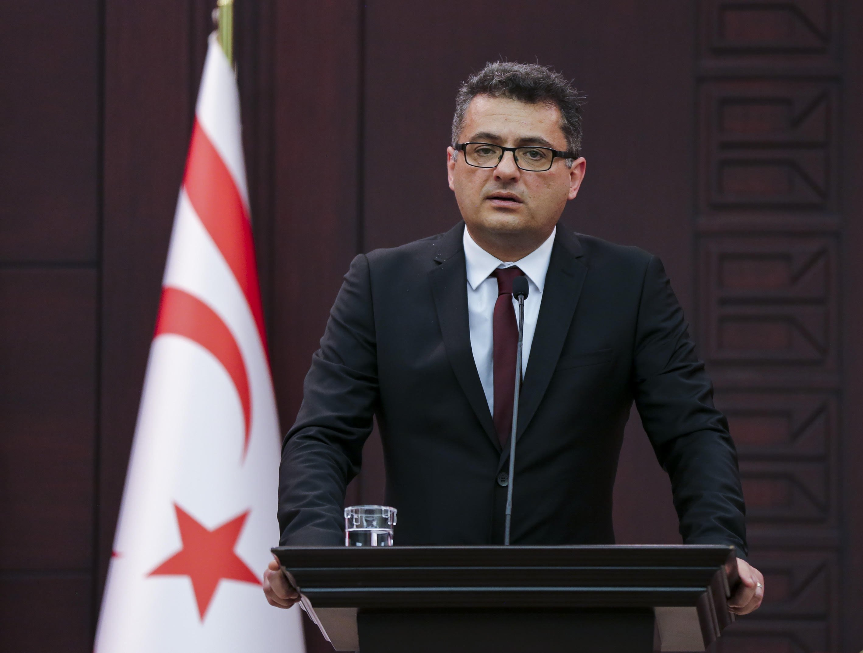 Former Prime Minister Tufan Erhürman runs in the presidential elections as the head of the Republican Turkish Party (CTP). (PHOTO BY ALI EKEYILMAZ)