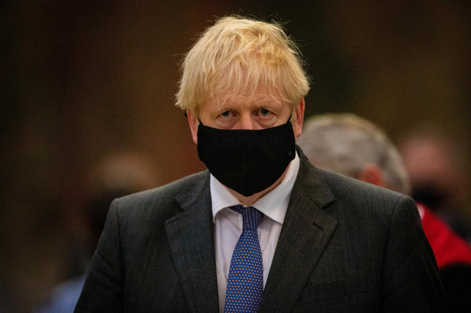 Britain's Prime Minister Boris Johnson attends a service to mark the 80th anniversary of the Battle of Britain at Westminster Abbey in London, Britain, Sept. 20, 2020. (Reuters Photo)