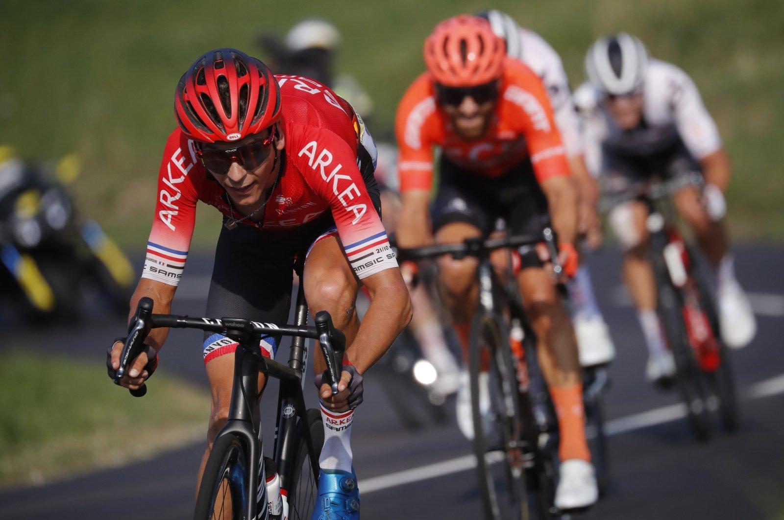 Team Arkea-Samsic rider Warren Barguil of France in action during the 16th stage of Tour de France, near Villard de Lans, France, Sept. 15, 2020. (Reuters Photo)