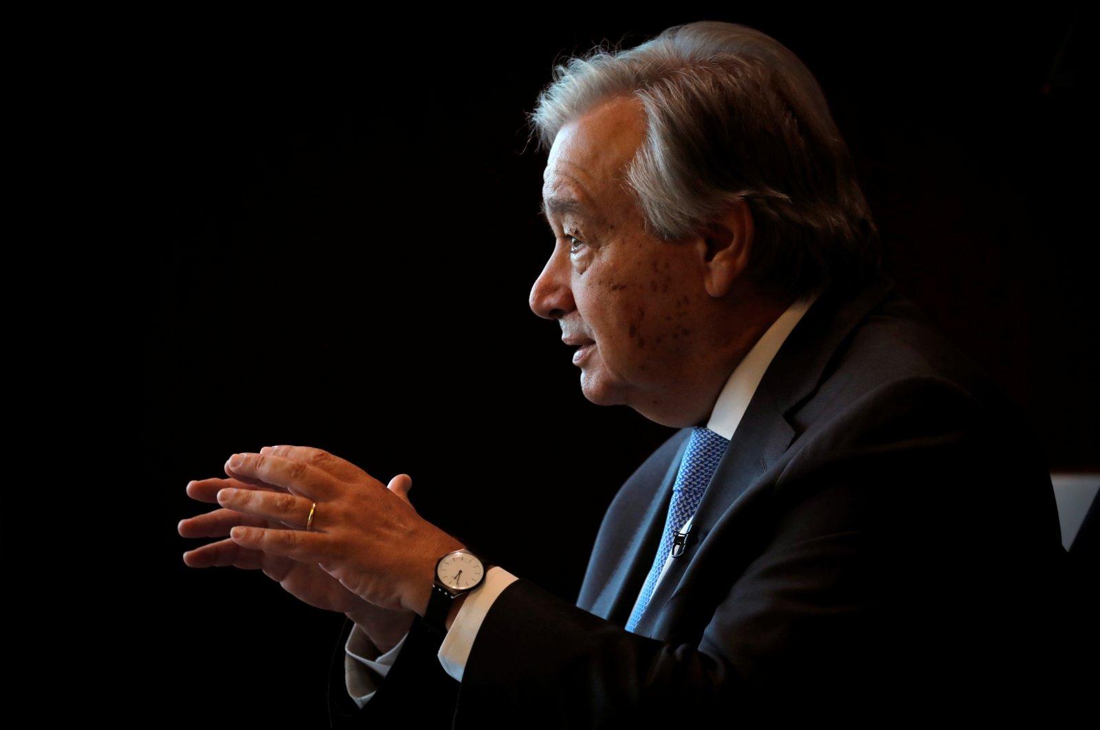 U.N. Secretary-General Antonio Guterres speaks during an interview with Reuters at U.N. headquarters in New York City, New York, U.S., Sept.r 14, 2020. (Reuters Photo)