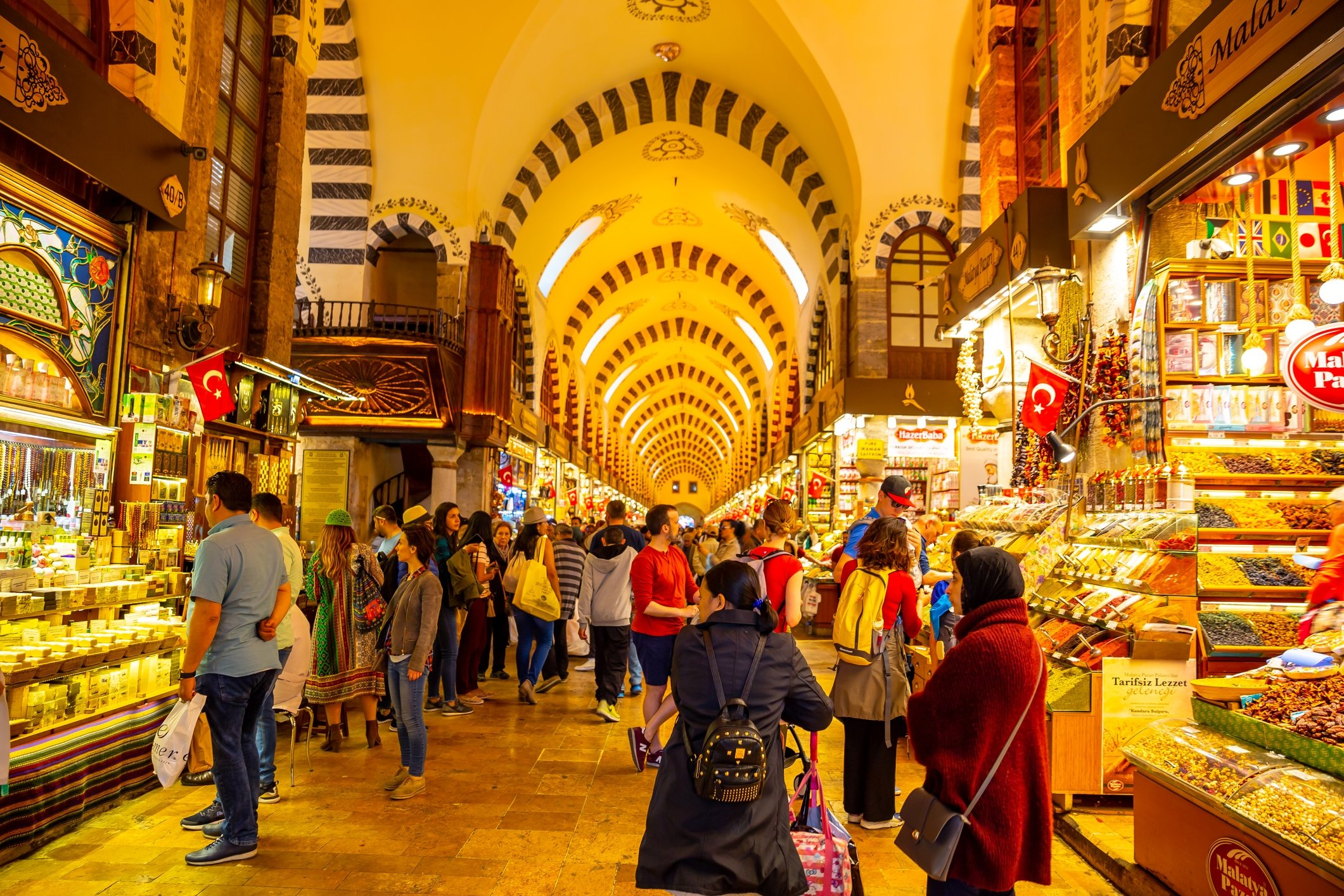 The famous Spice Bazaar in Istanbul was built to satisfy the needs of the Yeni Mosque with its rental income. (Subodh Agnihotri / iStock Photo)