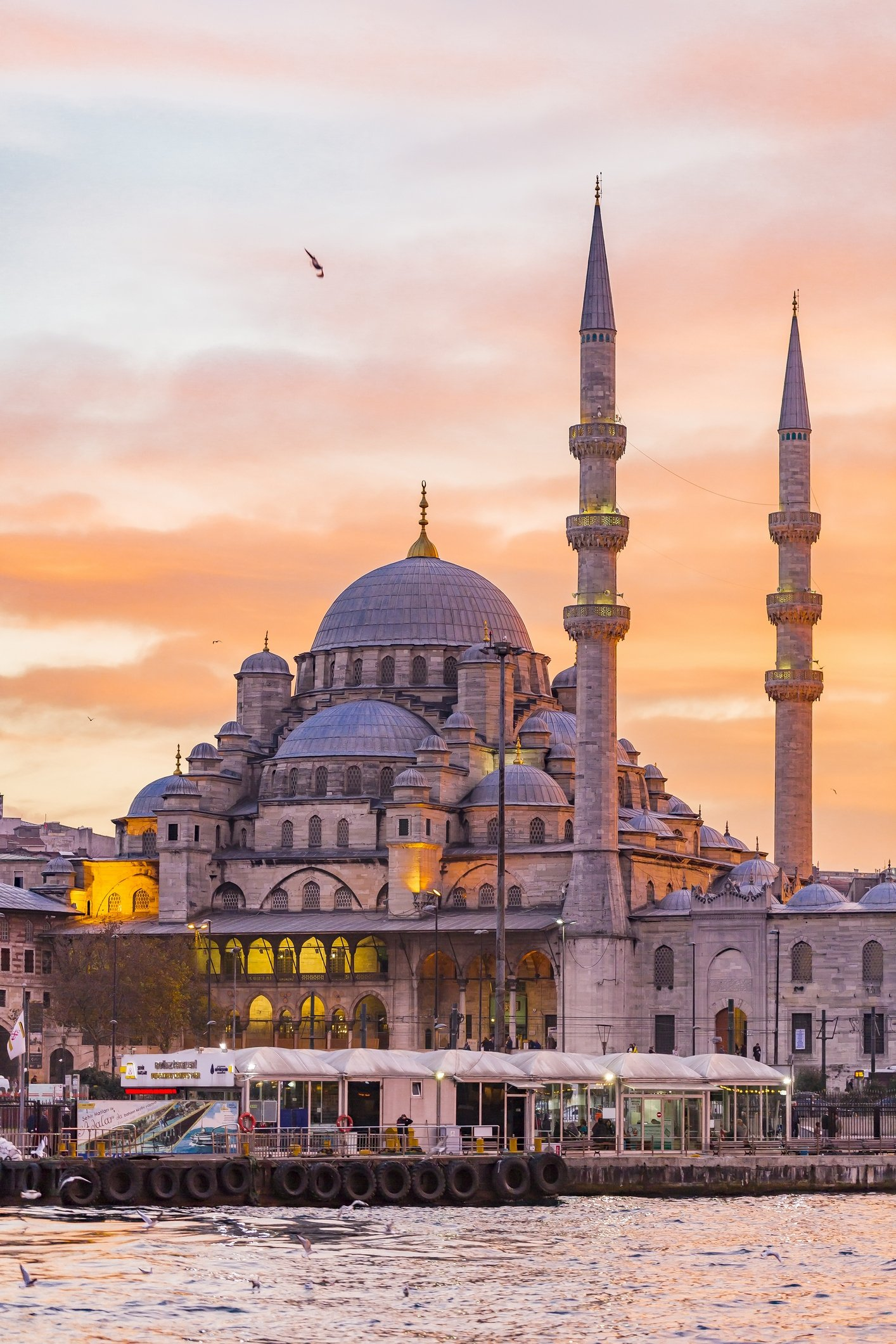 The Yeni Mosque is seen from Galata Bridge in Istanbul. (iStock Photo)