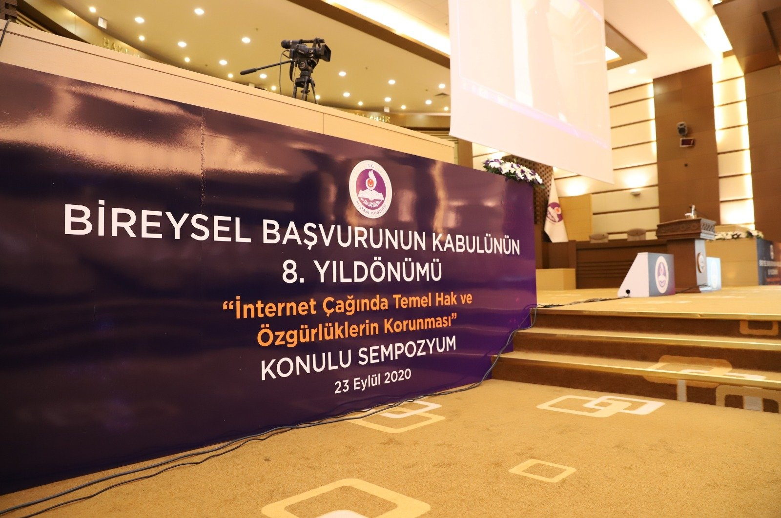 """The Constitutional Court organized a symposium titled """"The Protection of Basic Rights and Freedoms in the Age of the Internet"""" on the eighth anniversary of the ratification of private applications to the court, the capital Ankara, Sept. 23, 2020. (DHA Photo)"""