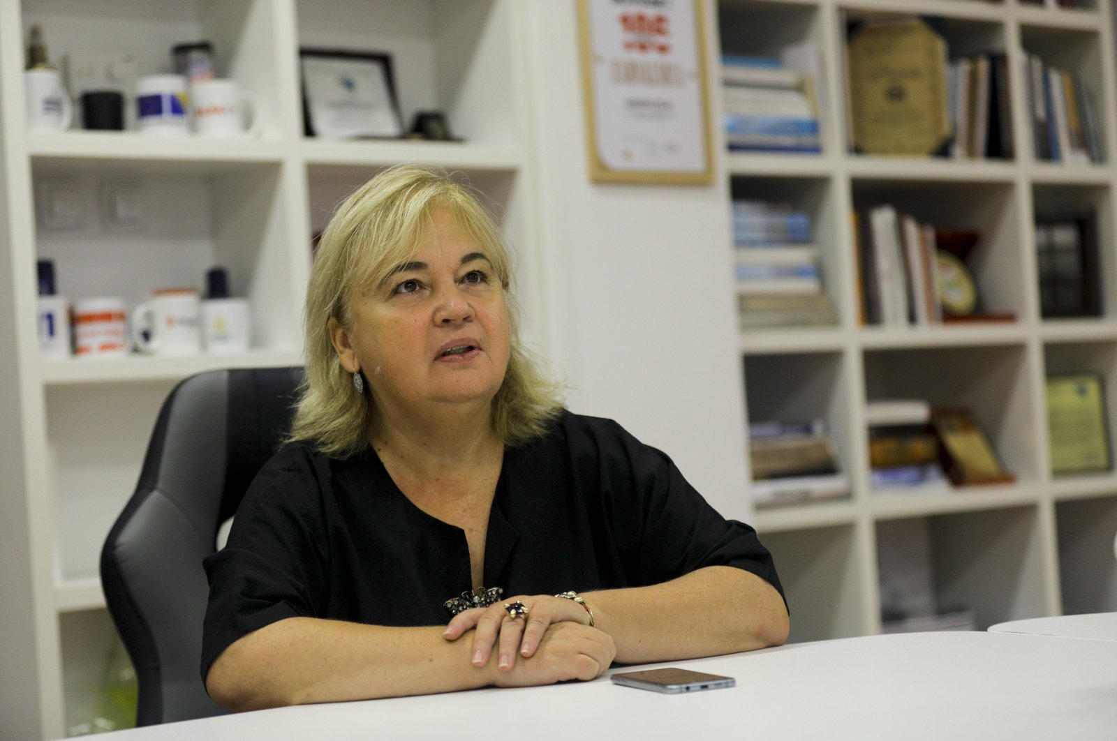Aida Pilav, head of Sarajevo Canton's Public Health Institute, speaks during an interview, in Sarajevo, Bosnia-Herzegovina, Sept. 23, 2020. (AA Photo)