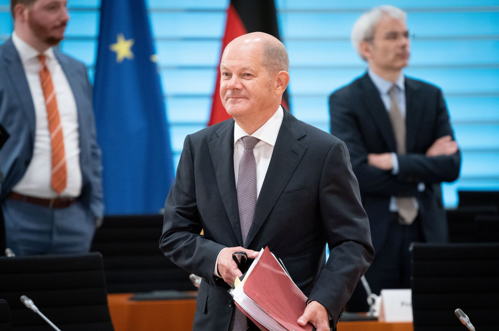 German Finance Minister Olaf Scholz attends the weekly cabinet meeting in Berlin, Germany, Sept. 23, 2020. (Reuters Photo)