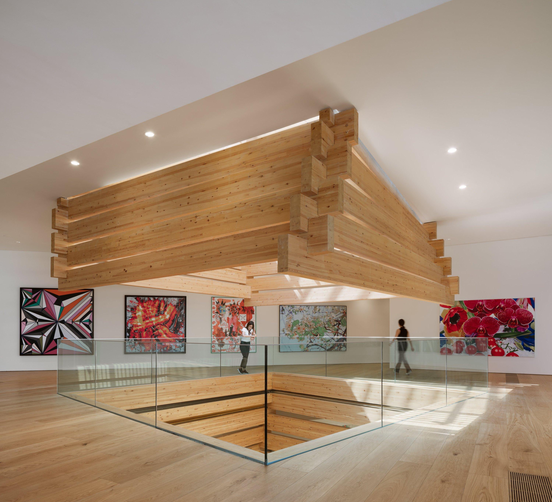 An interior view of the Odunpazarı Modern Museum, Eskişehir, central Turkey.