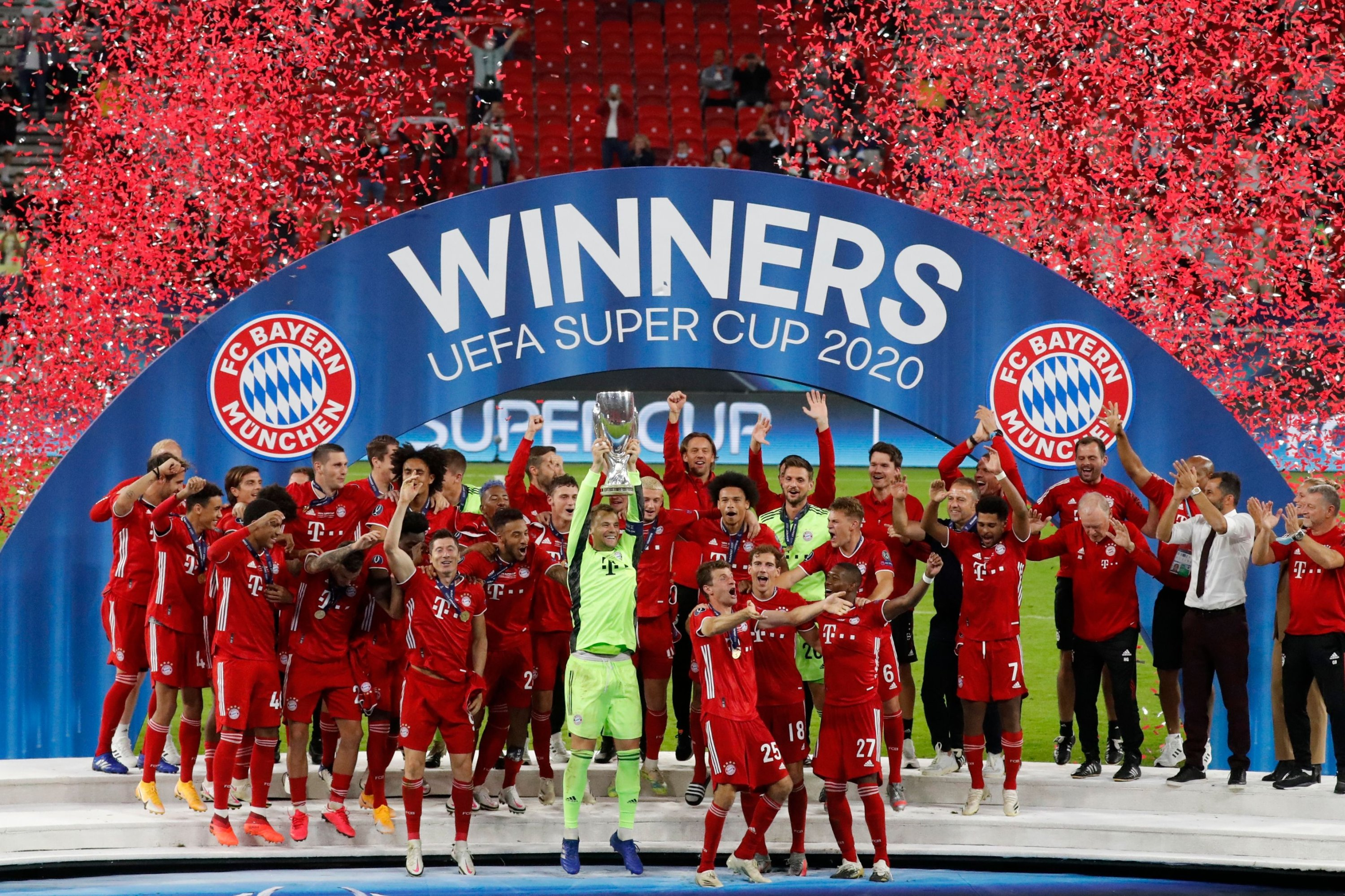 Quadruple kings: Bayern downs Sevilla to lift UEFA Super Cup ...