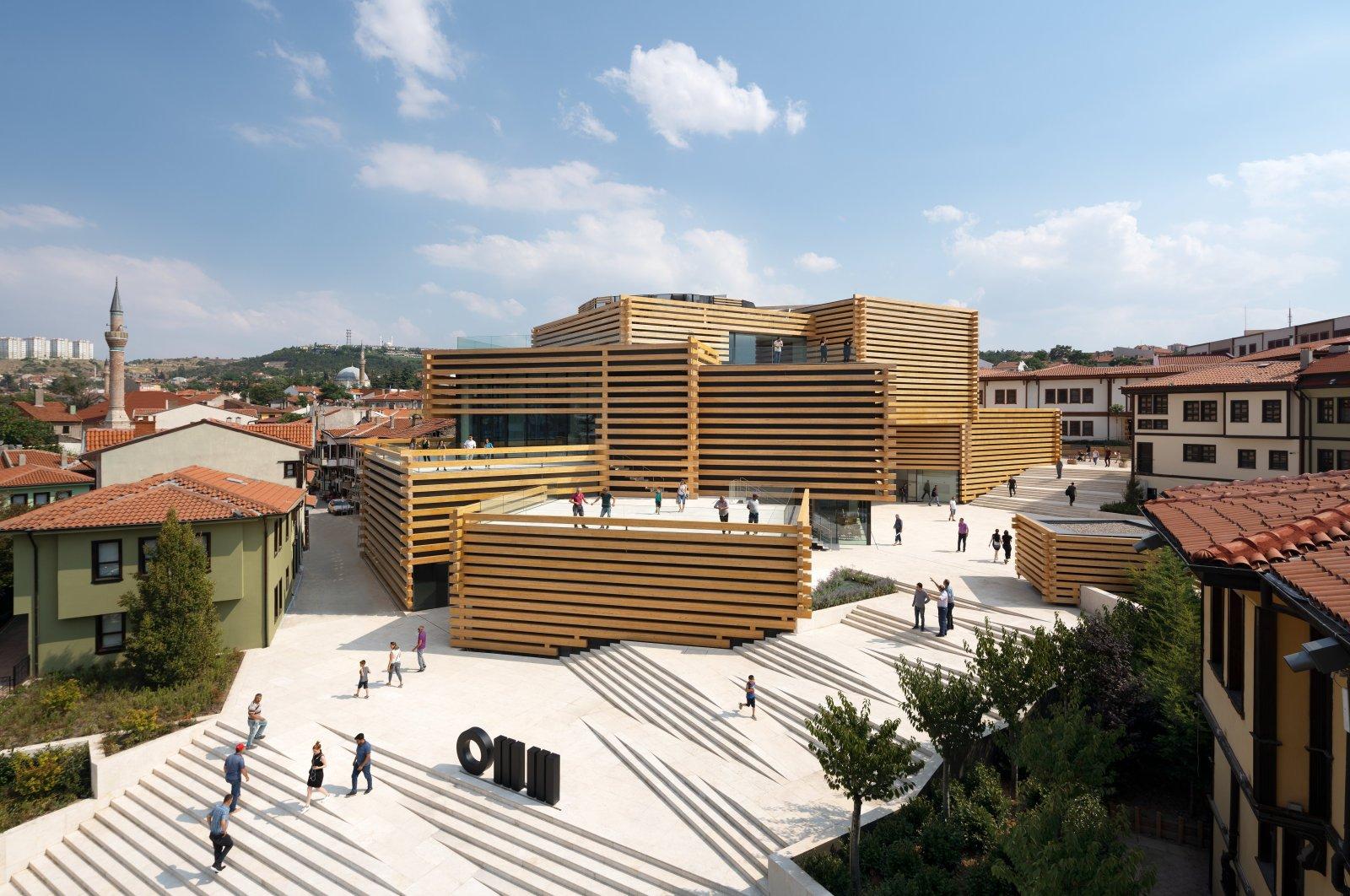 The Odunpazarı Modern Museum is located among the historic houses in the Odunpazarı district in Turkey's Eskişehir.