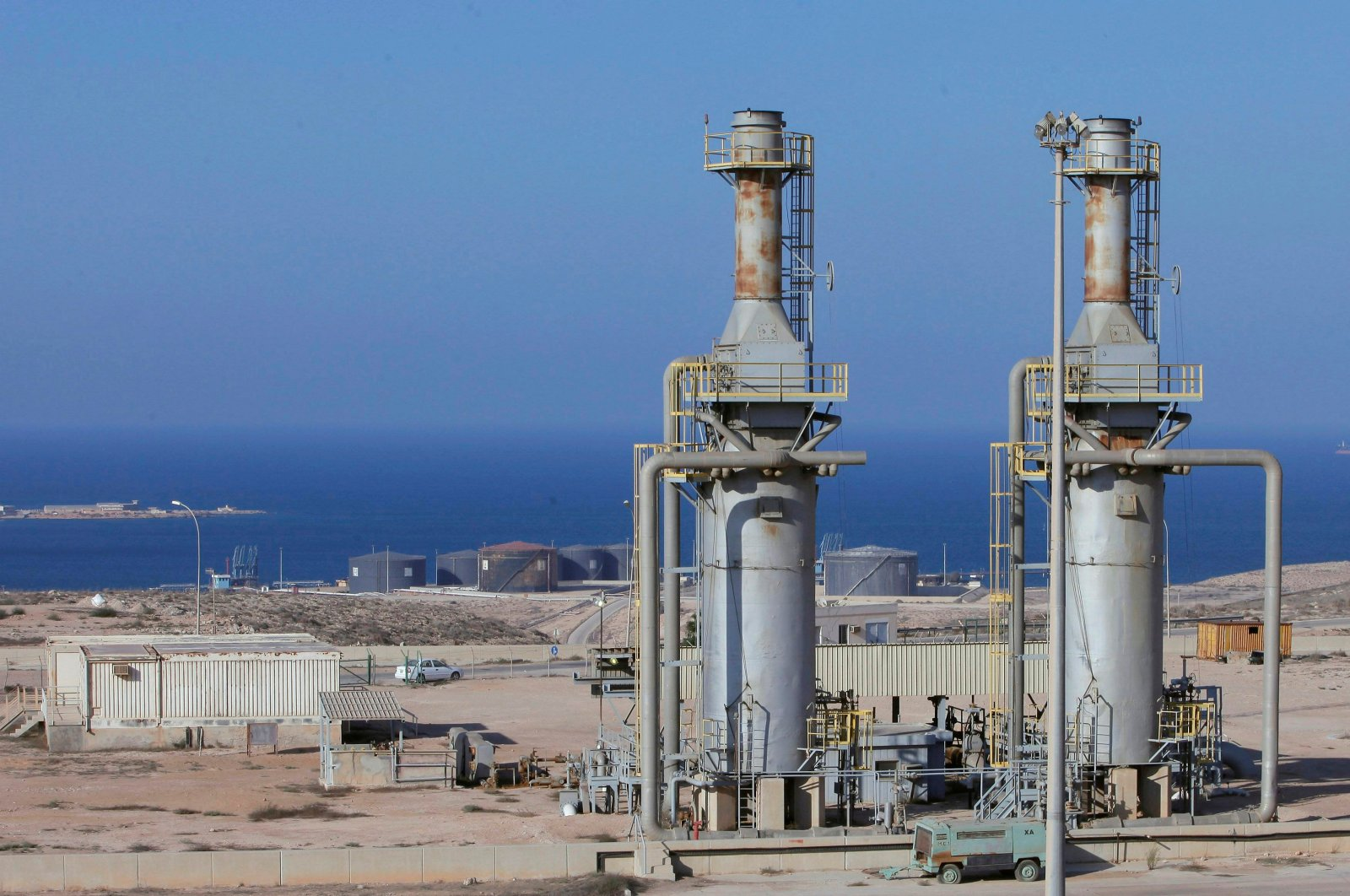 A general view of the Marsa al-Hariga oil port in the city of Tobruk, Libya, Aug. 20, 2013. (Reuters Photo)