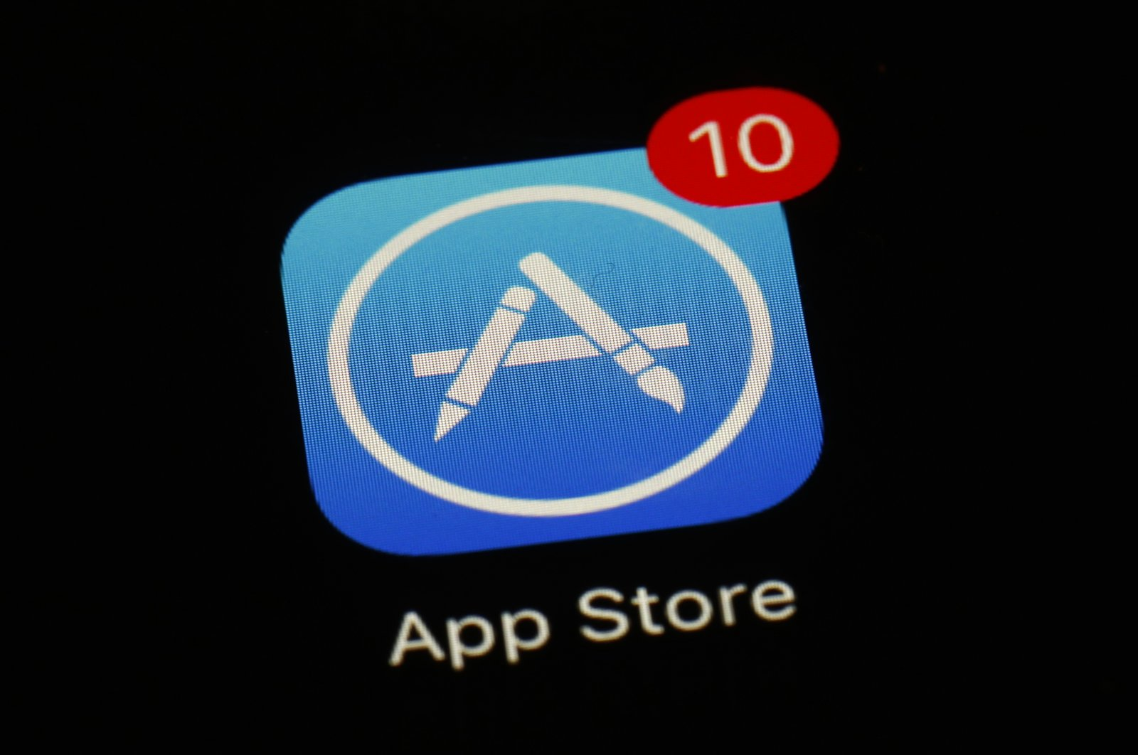 Photo of Apple's App Store app displayed on a screen, in Baltimore, Maryland, U.S., March 19, 2018. (AP Photo)