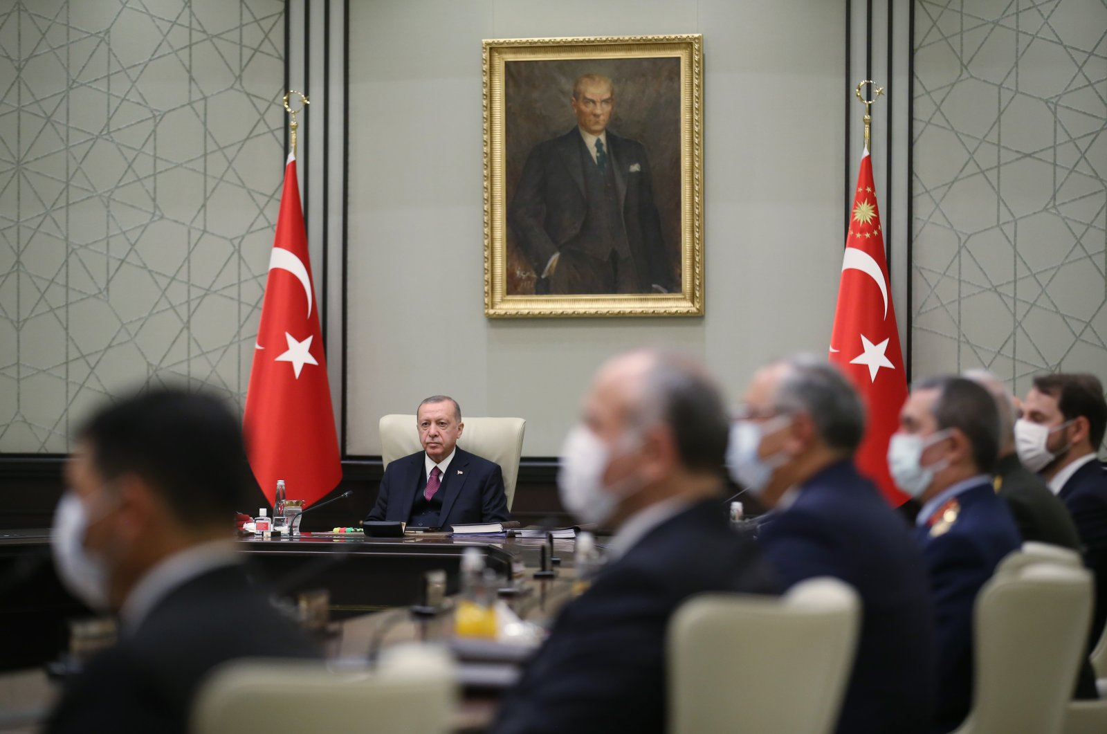 President Recep Tayyip Erdoğan presides over the National Security Council (MGK) meeting at the Presidential Complex, Ankara, Turkey, Sept. 24, 2020 (AA Photo)