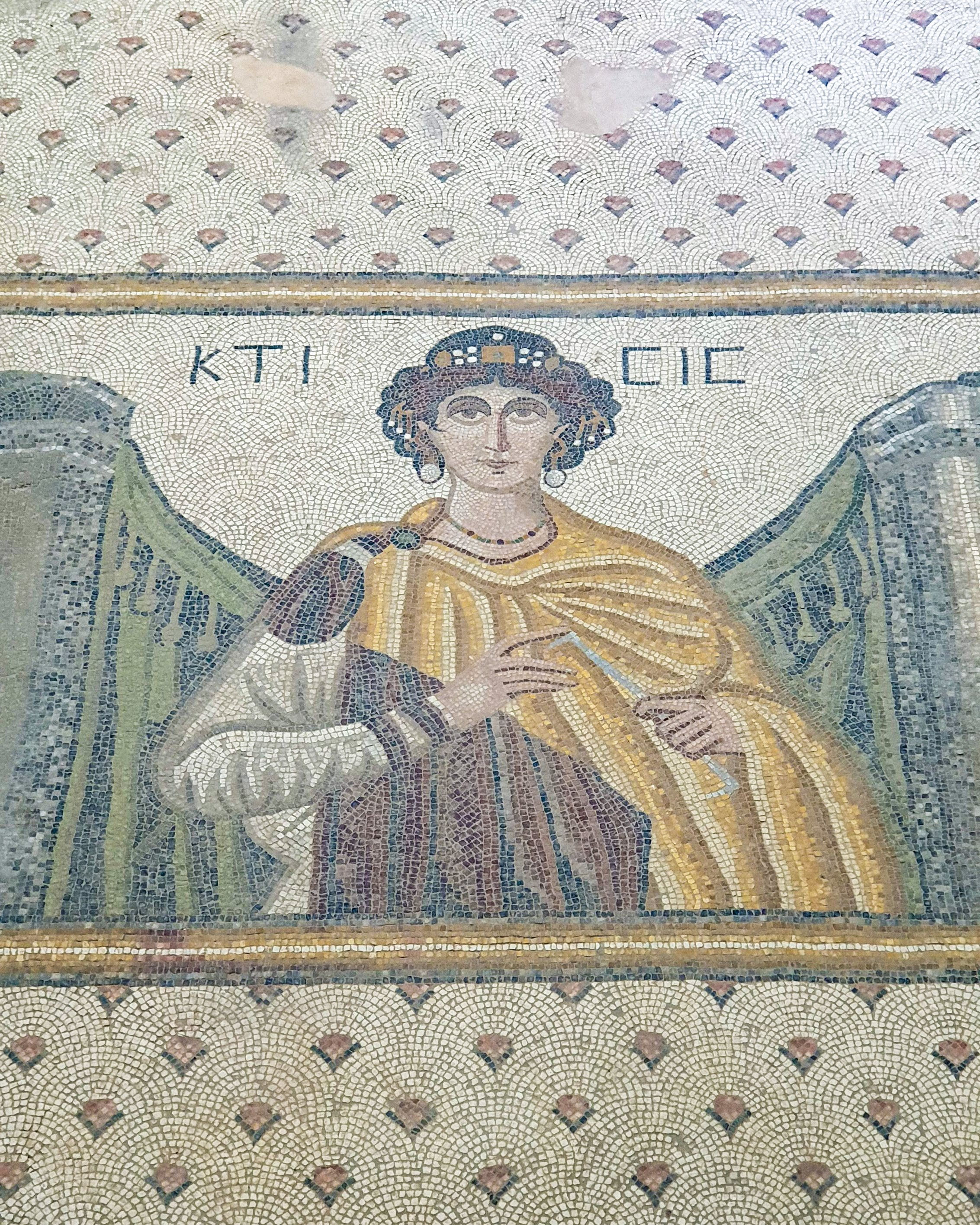 A mosaic of Goddess Ktisis. (Photo by Argun Konuk)