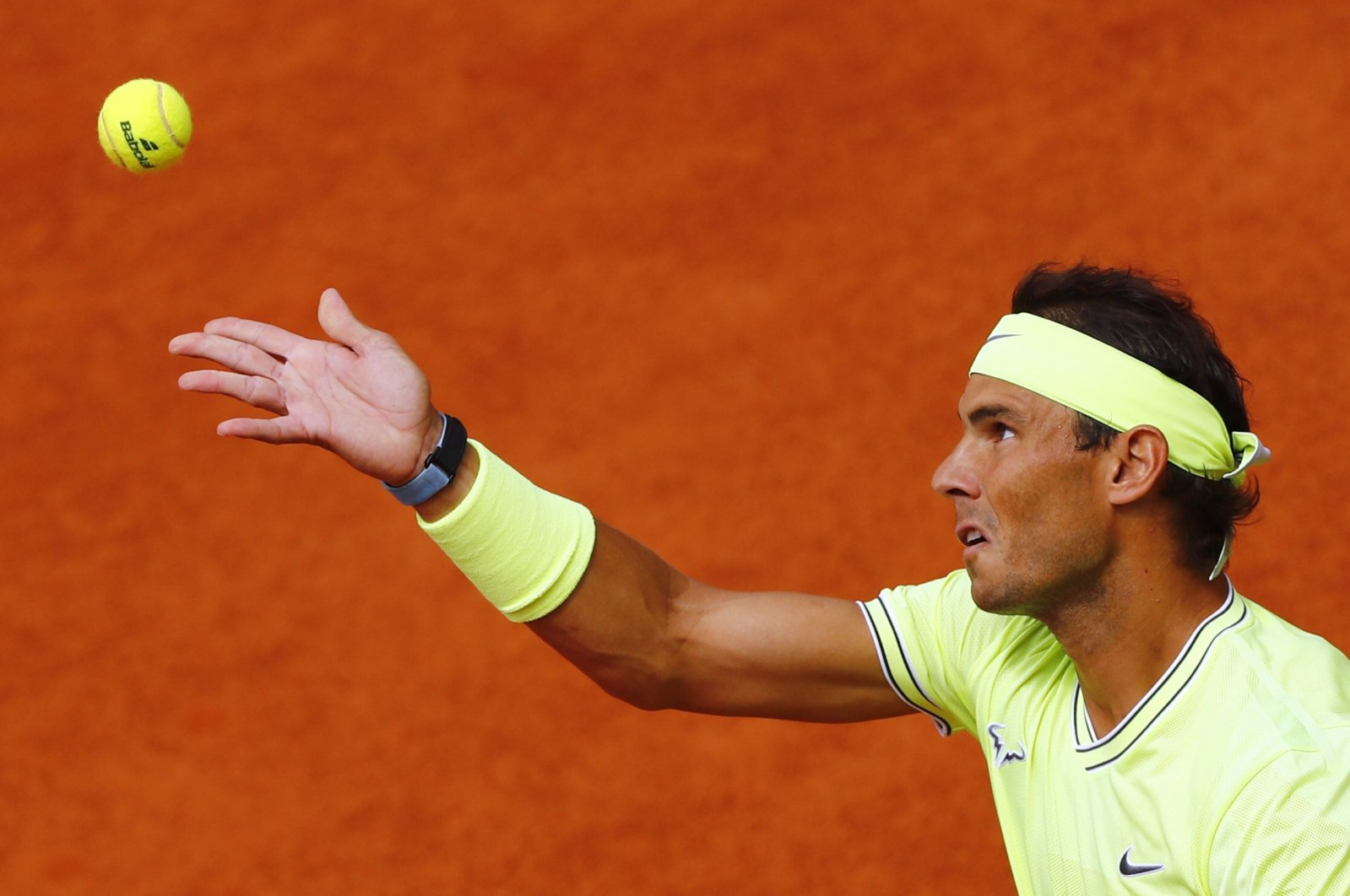 Spain's Rafael Nadal in action during the French Open final match against Dominic Thiem, in Paris, France, June 9, 2019. (Reuters Photo)