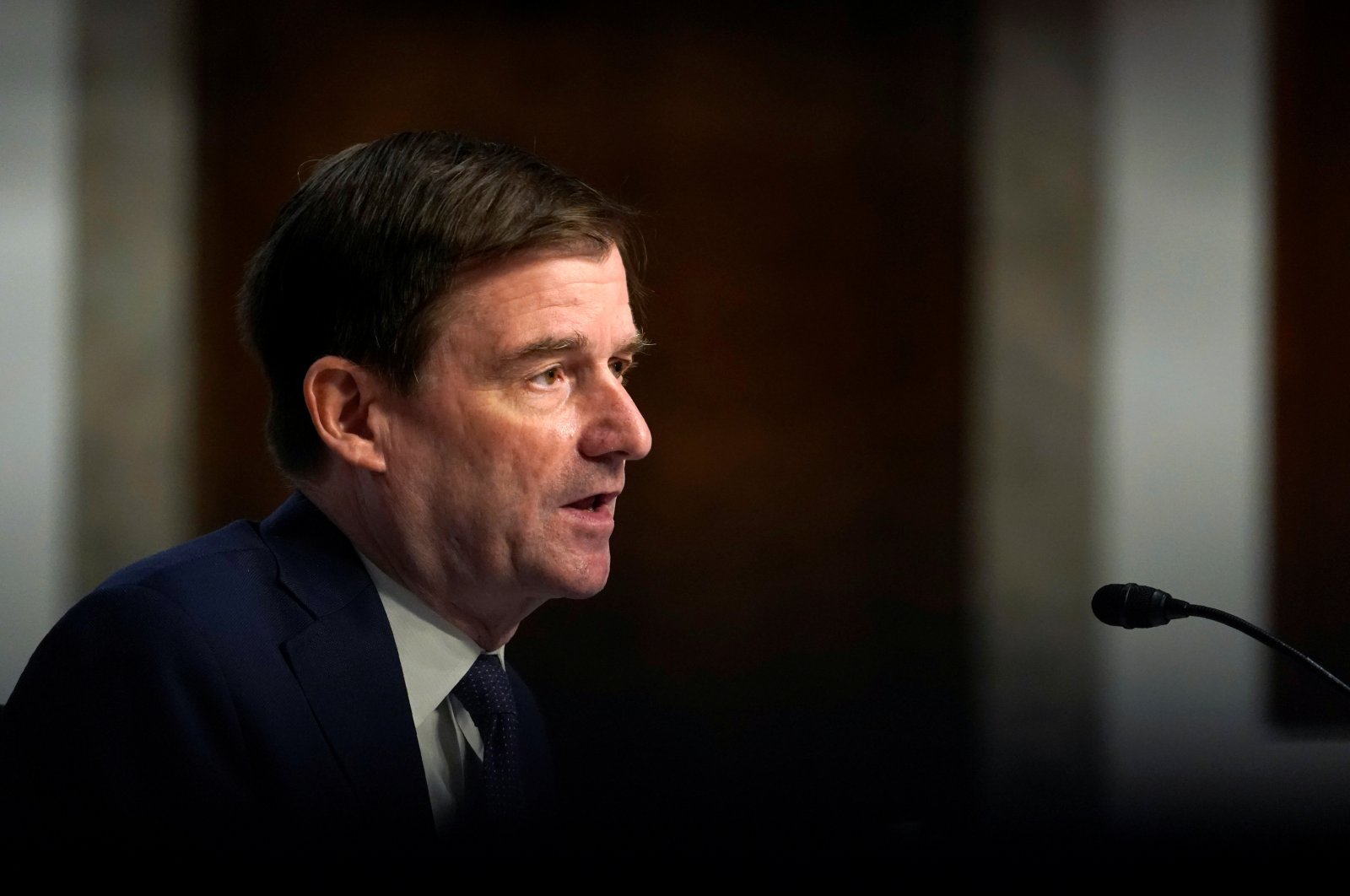 Under Secretary for Political Affairs David Hale testifies before the Senate Foreign Relations Committee during a hearing on U.S. Policy in the Middle East, on Capitol Hill in Washington, DC, U.S., Sept. 24, 2020. (REUTERS Photo)