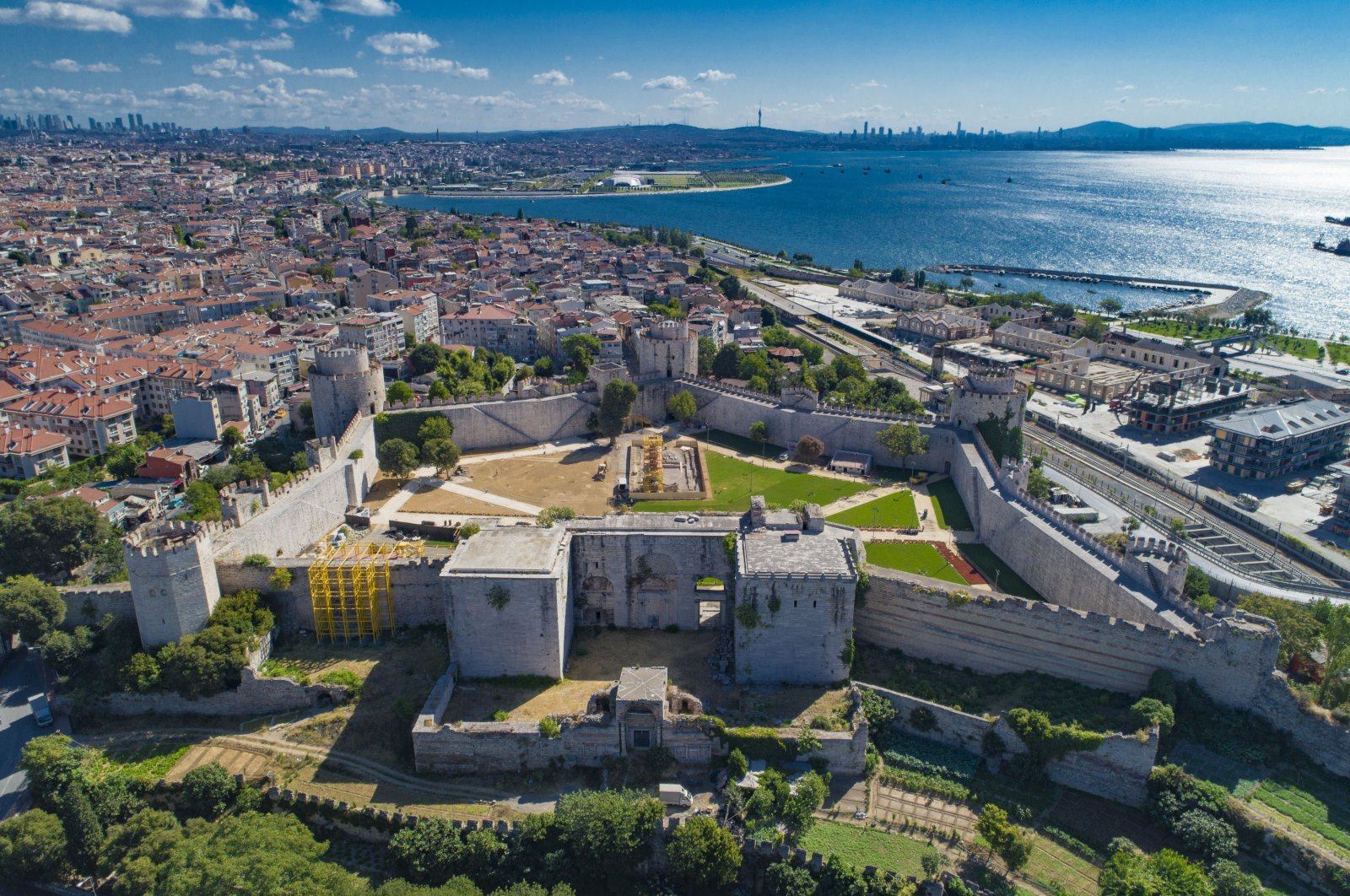 A general view of the fifth-century Yedikule Fortress in Istanbul, Turkey, Sept. 21, 2020. (IHA PHOTO)