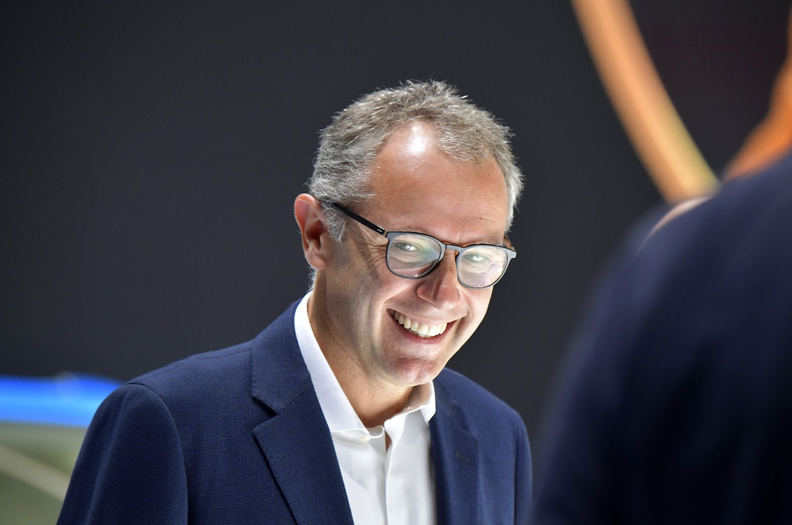 Lamborghini Chairman and CEO Stefano Domenicali during the IAA car show in Frankfurt, Germany, Sept. 10, 2019. (AFP Photo)