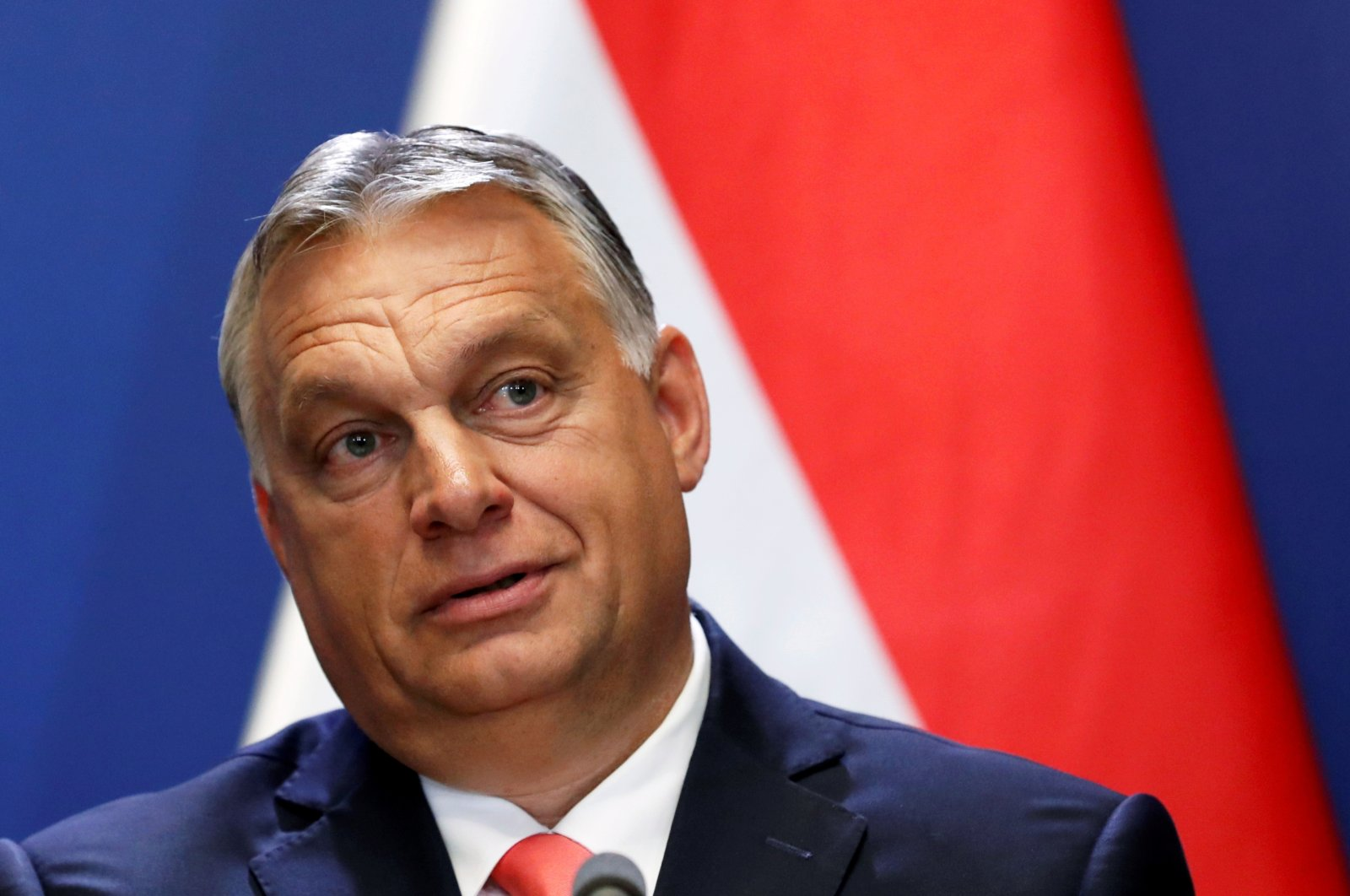 Hungary's Prime Minister Viktor Orban holds a news conference in Budapest, Hungary, June 12, 2020. (Reuters Photo)