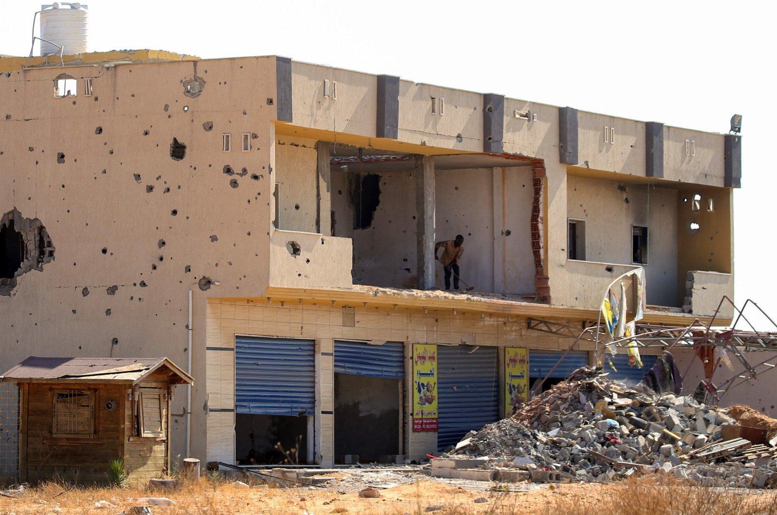 A building damaged during violence seen in Tripoli, Libya, July 9, 2020. (AFP Photo)