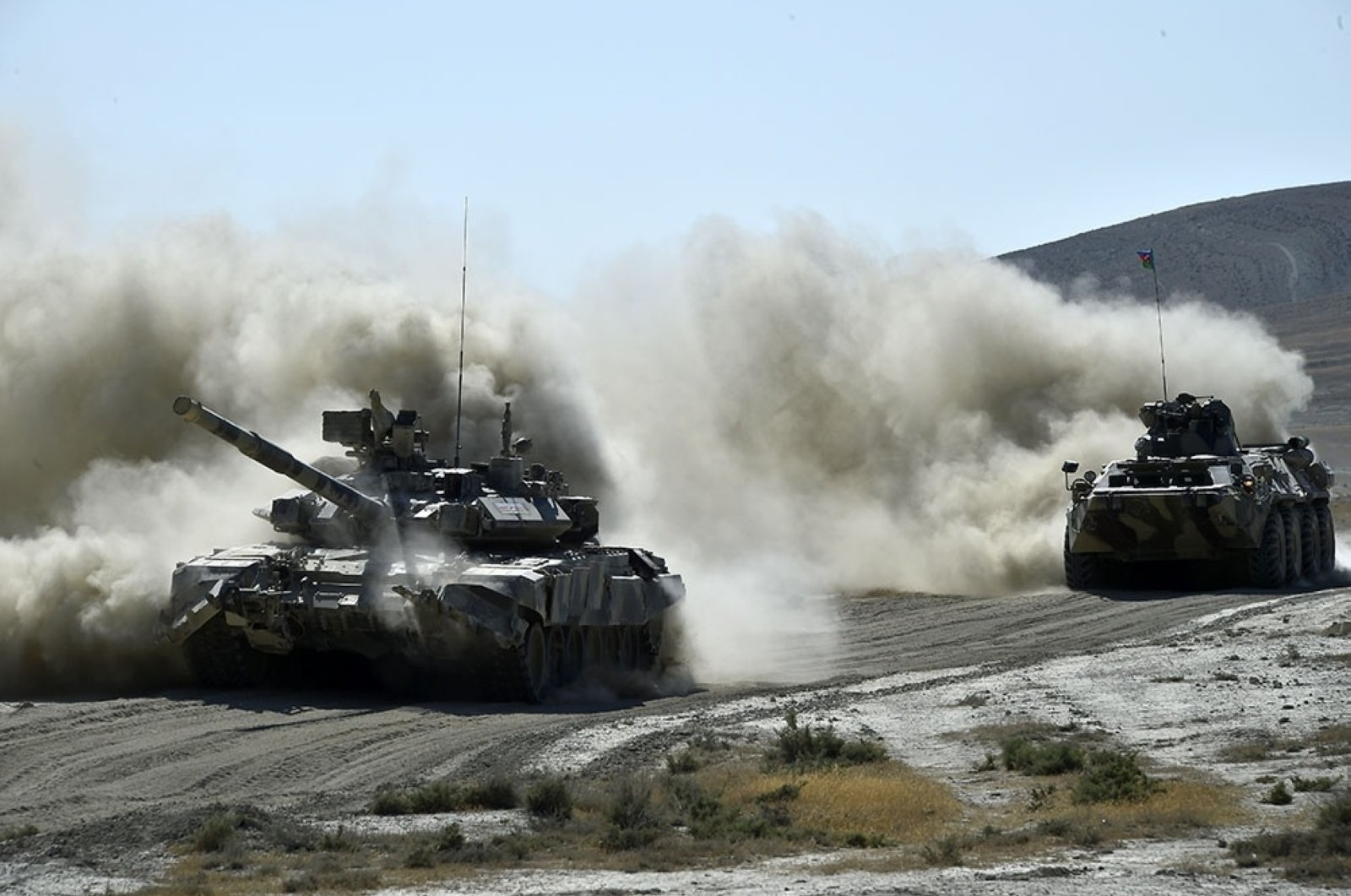 Turkish and Azerbaijani forces held a large-scale joint military exercise in Baku, Azerbaijan, Aug. 3, 2020. (Reuters Photo)