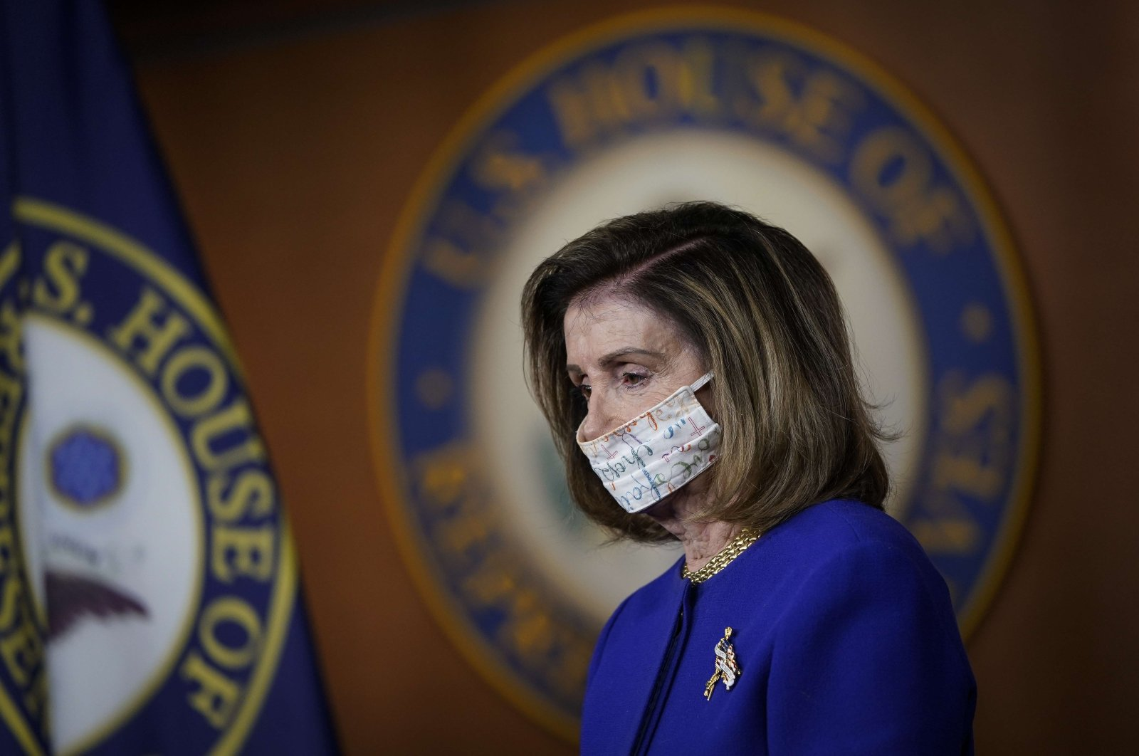 U.S. House Speaker Nancy Pelosi attends a news conference at the U.S. Capitol, Washington, D.C., Sept. 23, 2020. (AFP Photo)