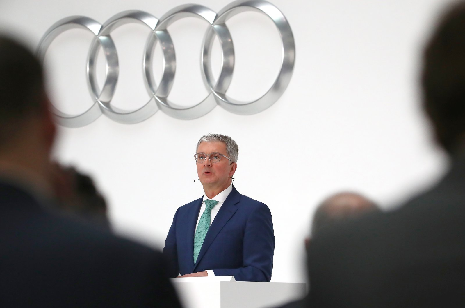 Audi CEO Rupert Stadler speaks during the company's annual news conference in Ingolstadt, Germany on March 15, 2018. (Reuters Photo)