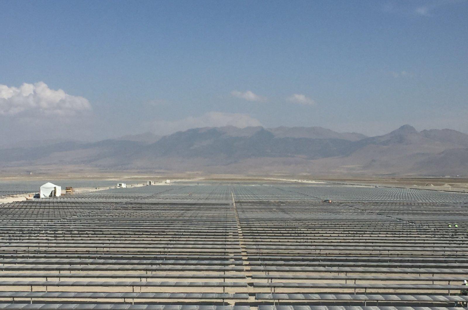 A view from Karapınar Solar Power Plant in central Konya province, Turkey, Sept. 28, 2020. (AA Photo)