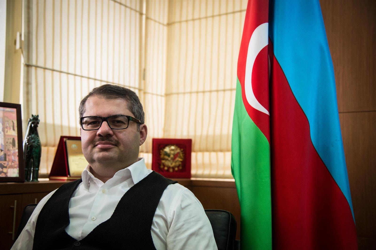 Azerbaijan's envoy to Turkey Khazar Ibrahim in his office, Ankara, July 20, 2018.