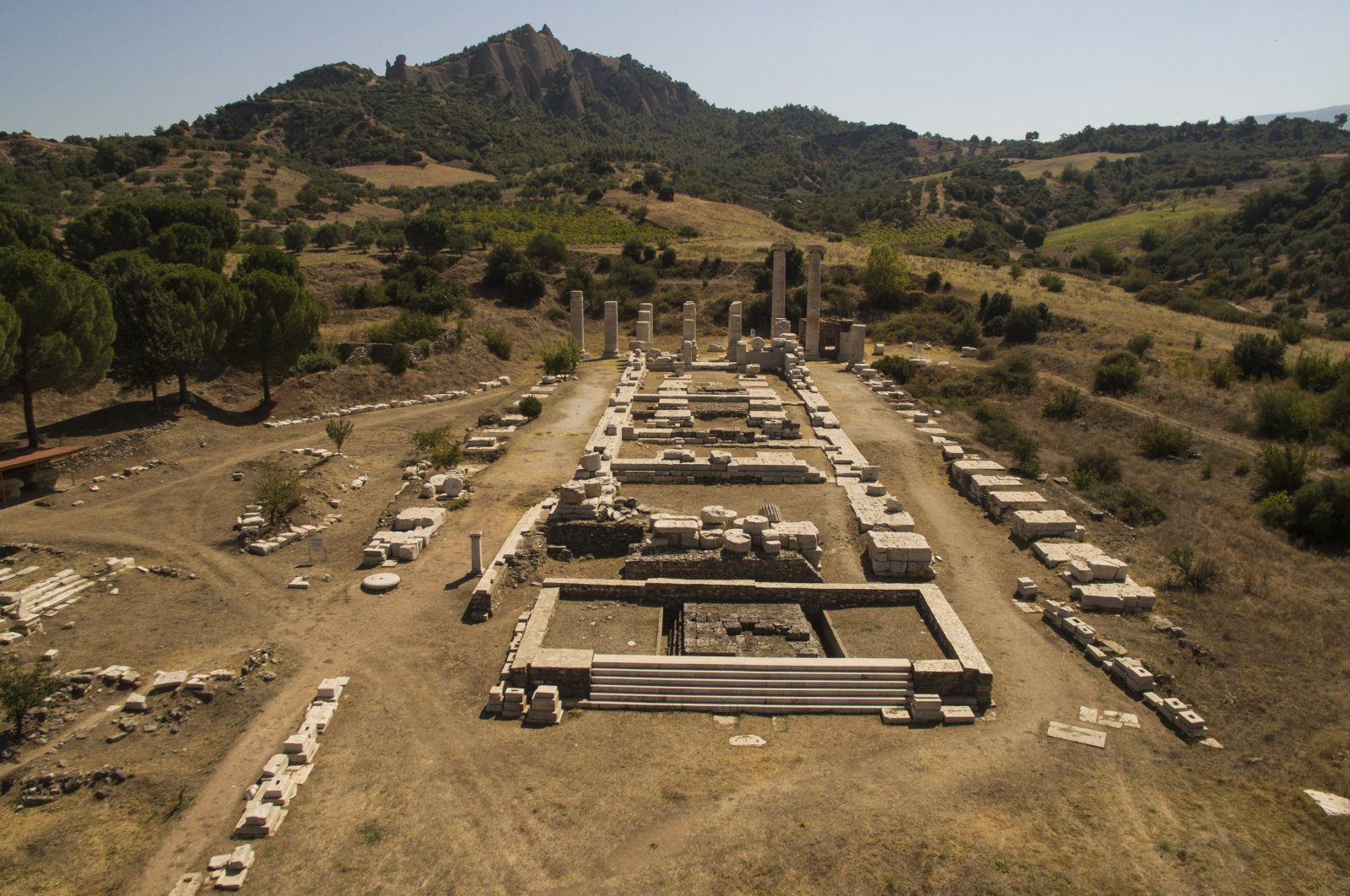 A view from the Temple of Artemis in the ancient city of Sardis, Manisa, western Turkey, Sept. 28, 2020. (AA PHOTO)