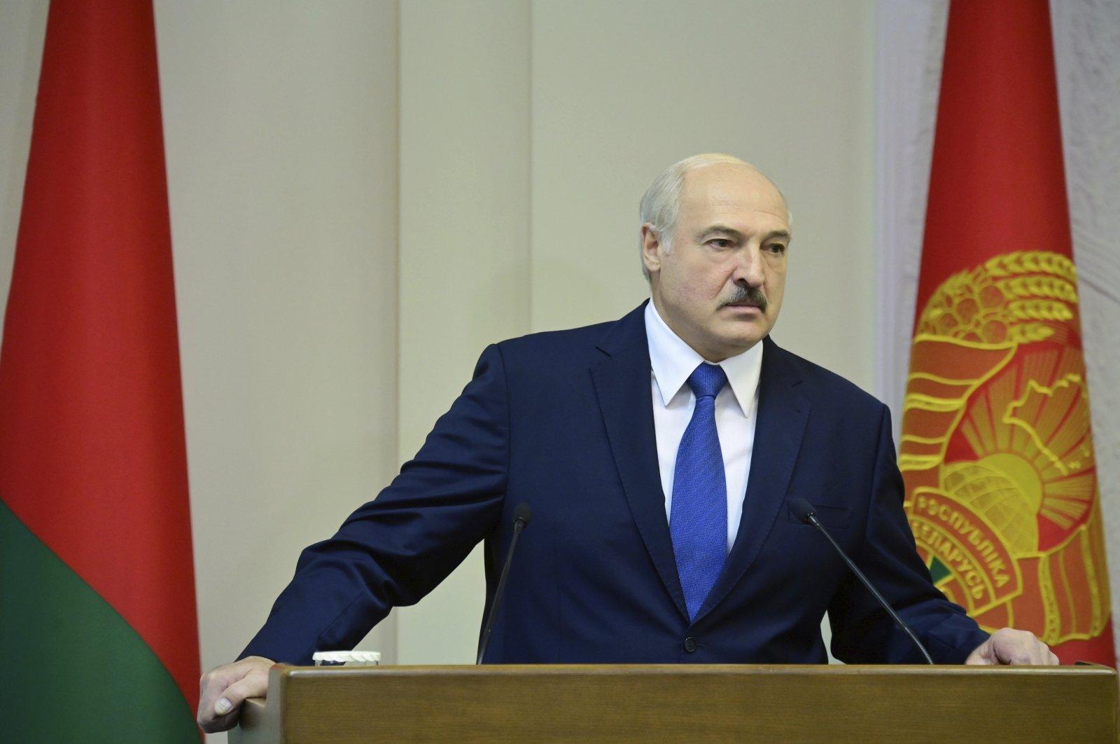 Belarusian President Alexander Lukashenko speaks during a Cabinet meeting in Minsk, Belarus, Sept. 10, 2020. (BelTA Pool Photo via AP)