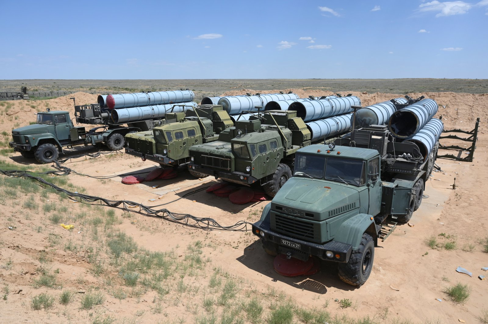 A view shows Russian S-300 missile systems during military exercises at the Ashuluk shooting range near Astrakhan, Russia June 19, 2019. (Reuters Photo)