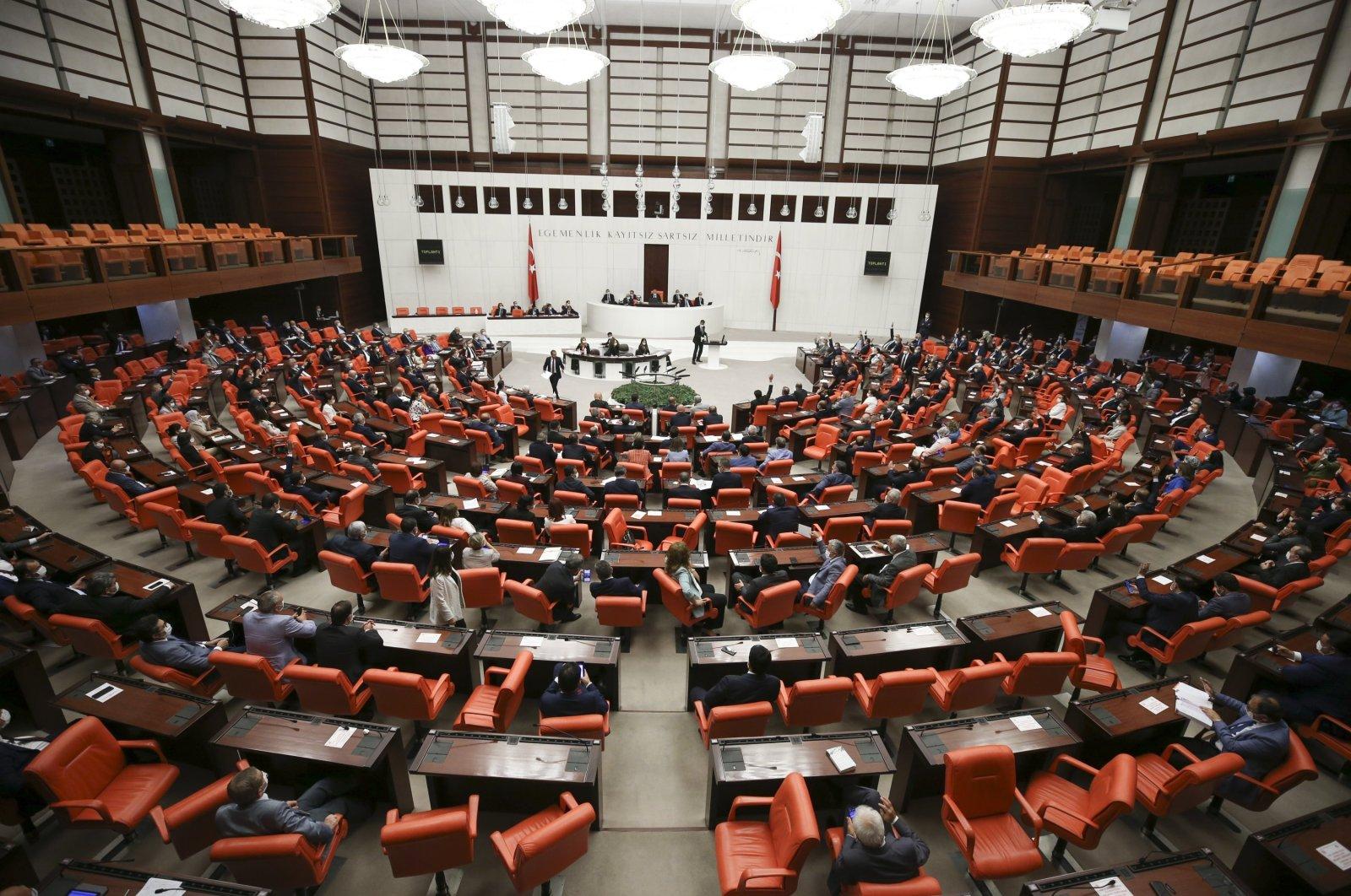 The General Assembly of the Turkish Parliament (TBMM) ratifies a social media regulation bill, Ankara, Turkey, July 29, 2020. (AA Photo)