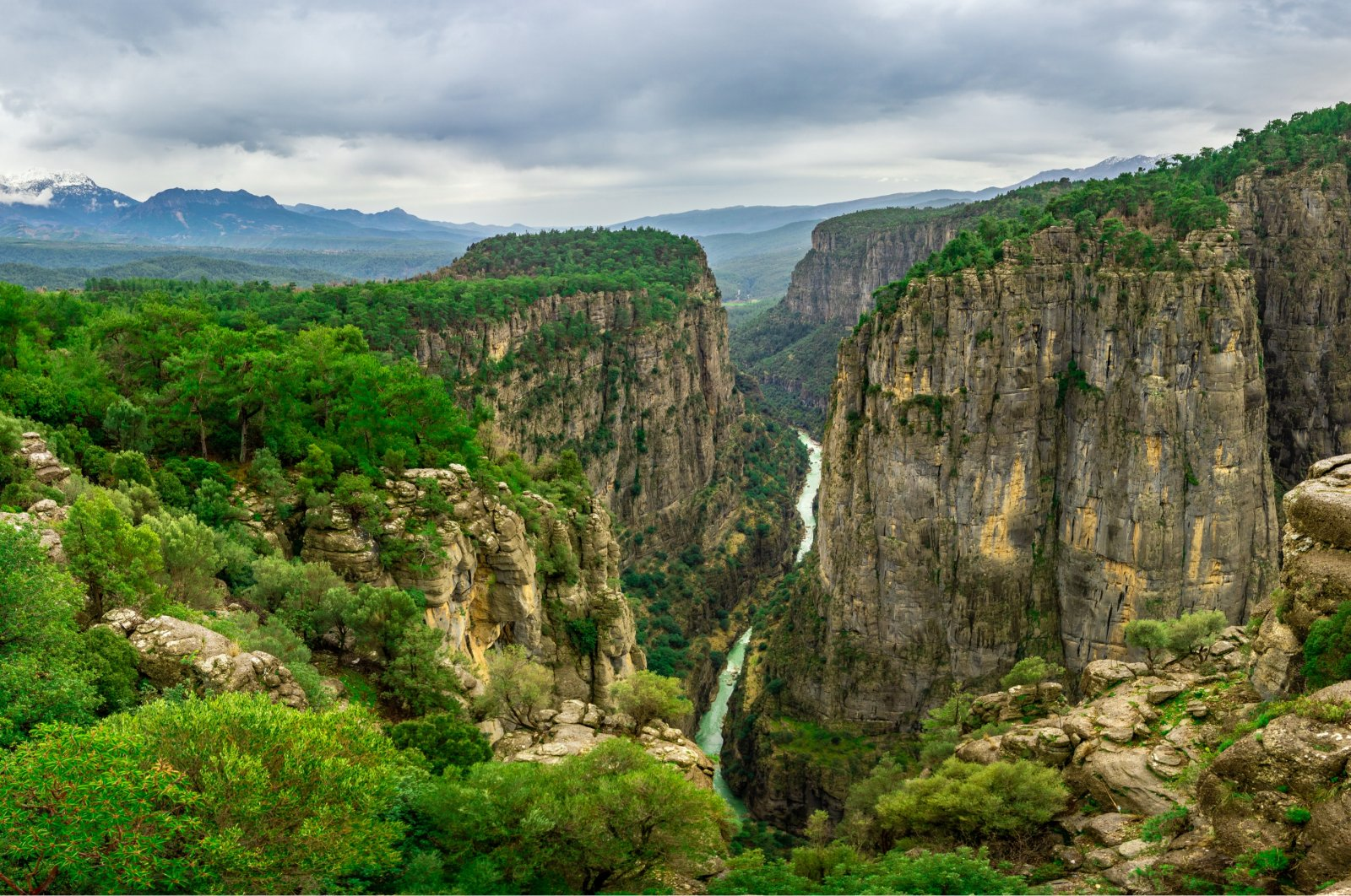 The Tazı Canyon, also called Wisdom Valley, offers visitors spectacular sights in Antalya, Turkey. (Shutterstock Photo)