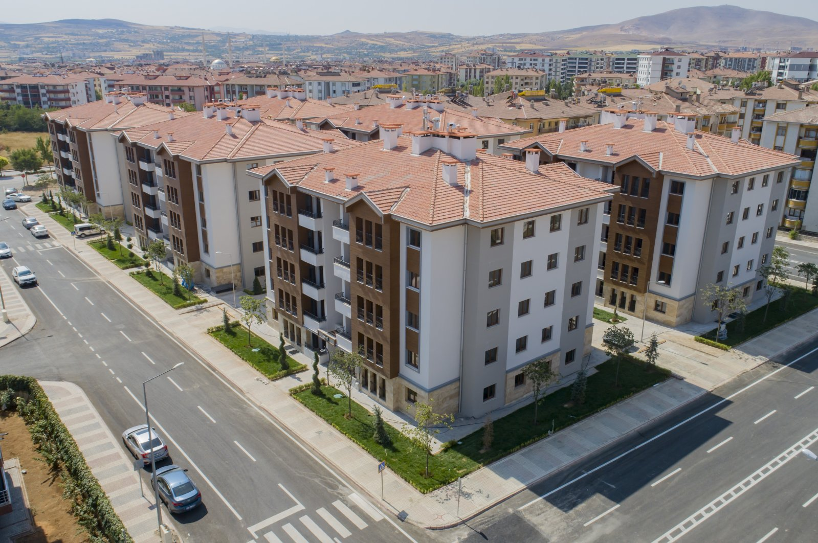 New homes constructed in eastern Elazığ province are seen in this file photo dated Sept. 8, 2020 (AA Photo)