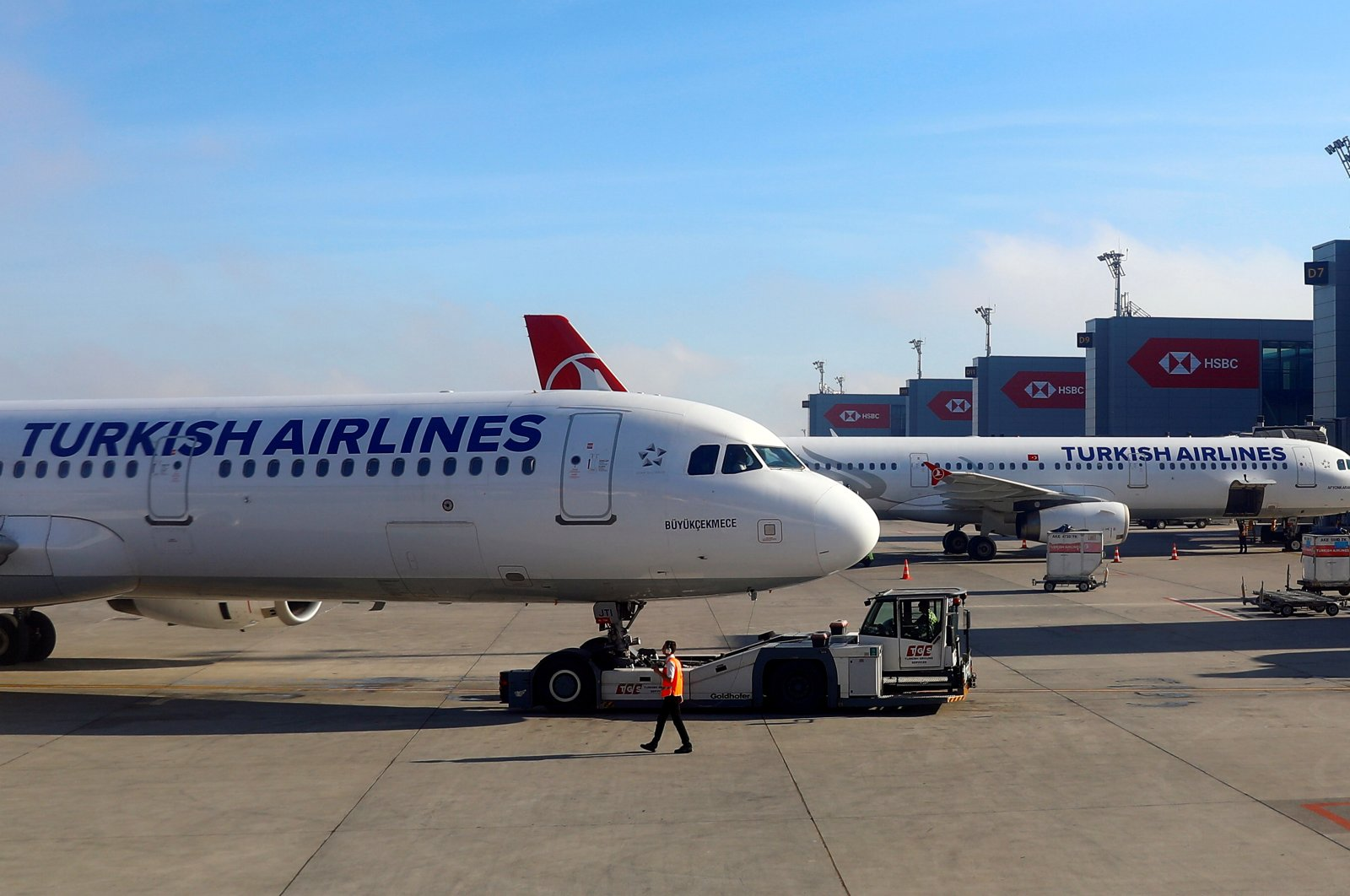 A Turkish Airlines planes sit at Istanbul Airport, Turkey, May 27, 2019. (Reuters Photo)