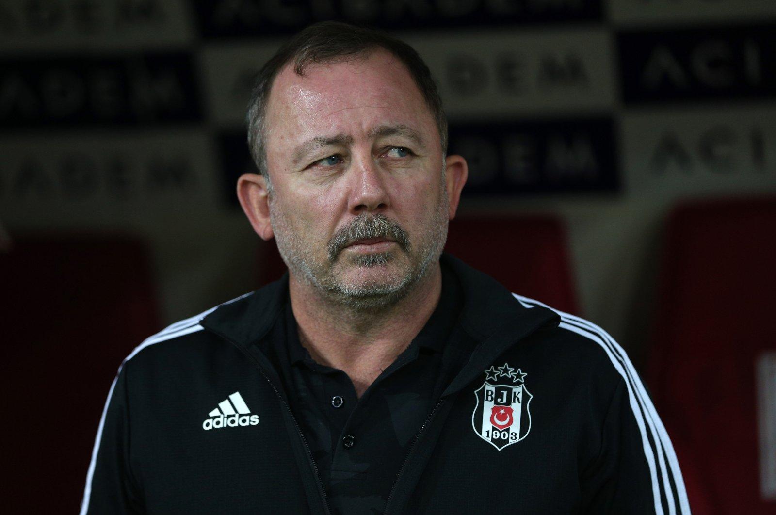 Beşiktaş coach Sergen Yalçın during a Süper Lig match against Kayserispor, in Kayseri, Turkey, July 6, 2020. (AA Photo)