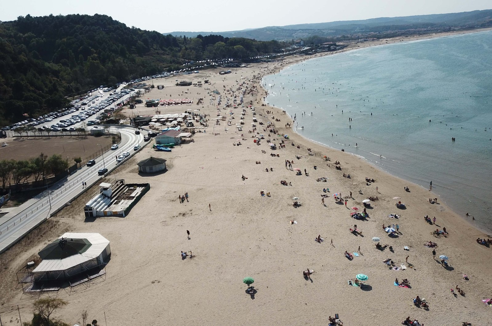 A view of a beach in Şile, in Istanbul, Turkey, Oct. 5, 2020. (DHA Photo)