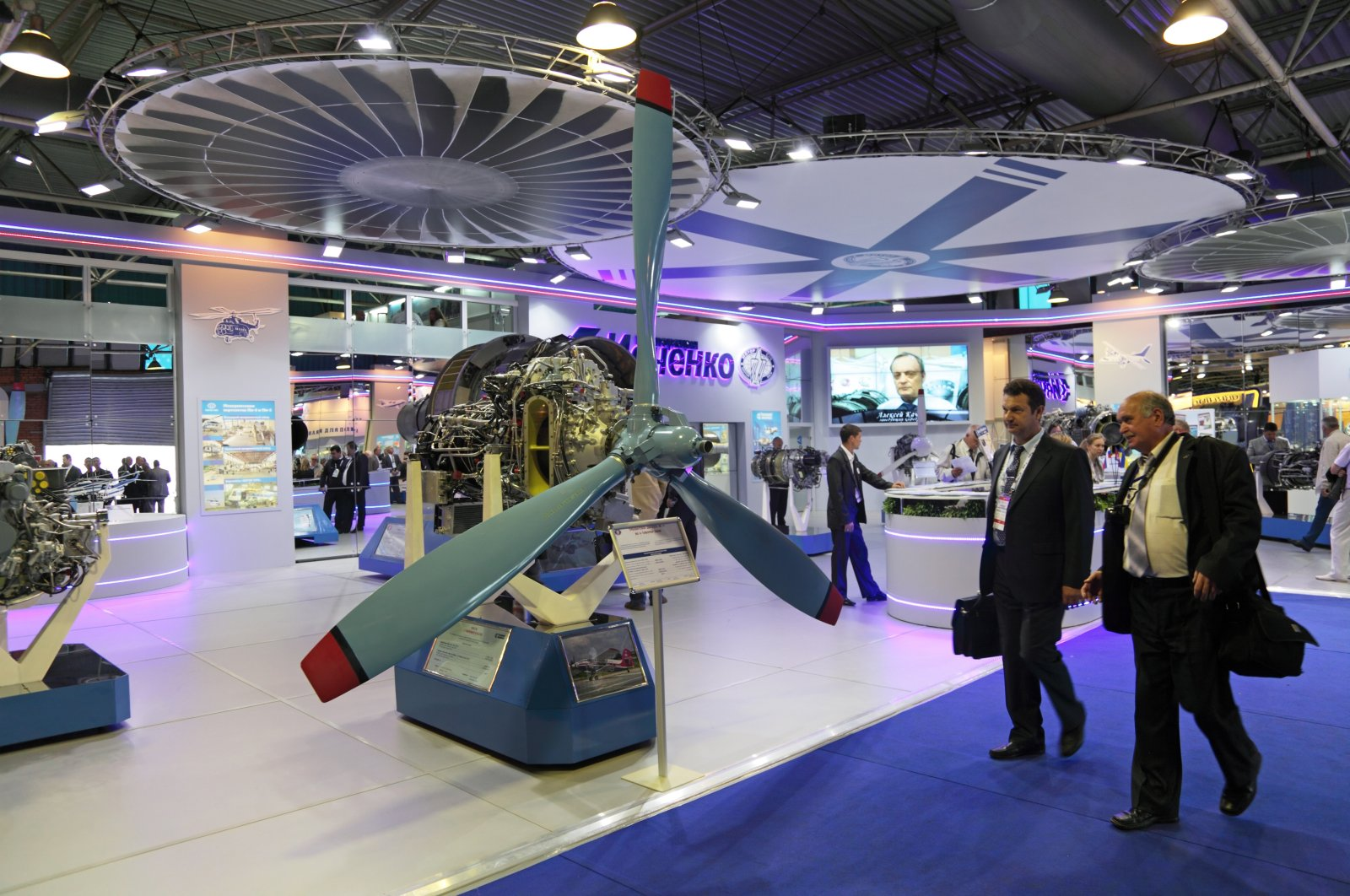The stand of the Ivchenko-Progress company at the International Aviation and Space salon, Zhukovsky, Russia, Aug. 27, 2013. (Shutterstock Photo)