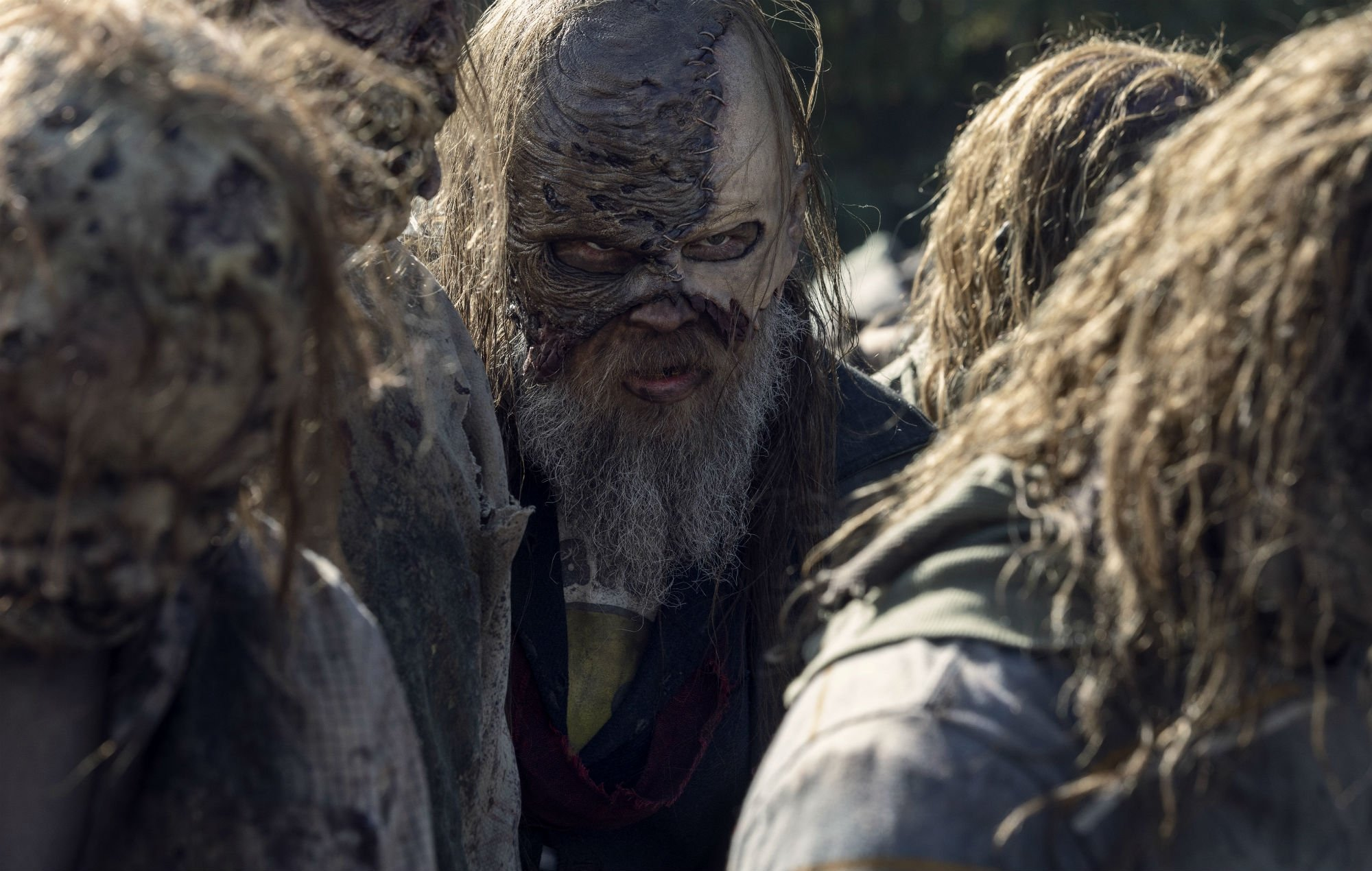 Beta, played by Ryan Hurst, in a scene after the death of Alpha in 'The Walking Dead'.