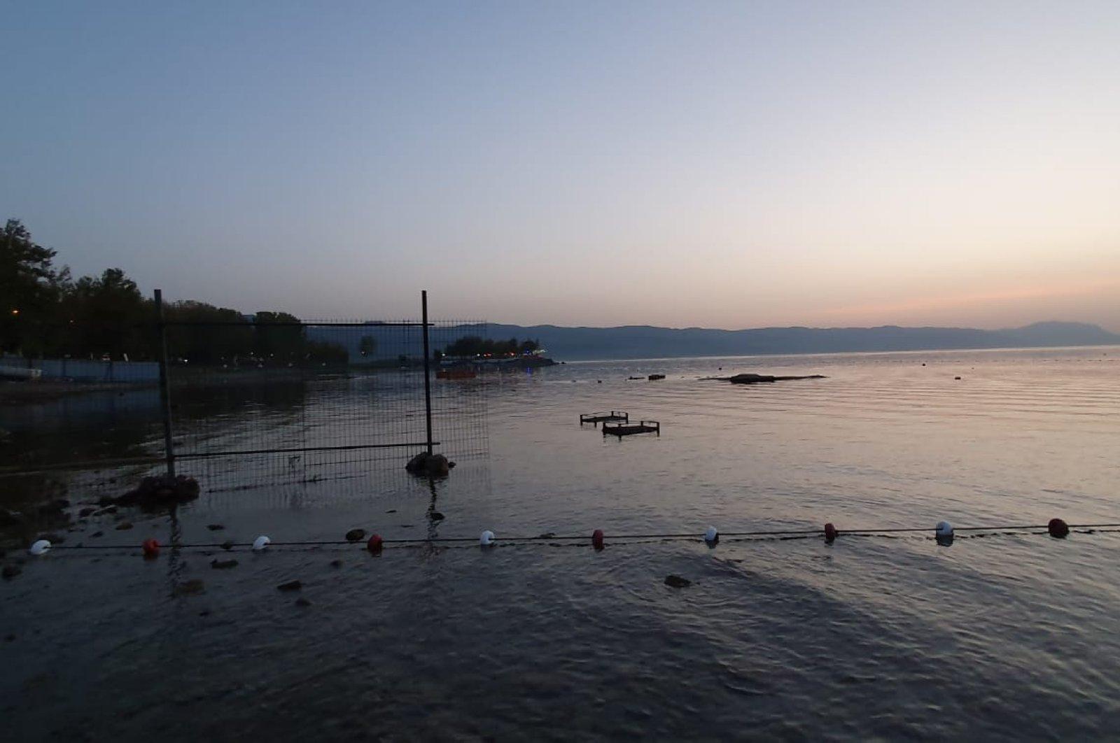 A shot from the filming continuing at Lake Iznik, Bursa, western Turkey, Oct. 4, 2020. (AA PHOTO)