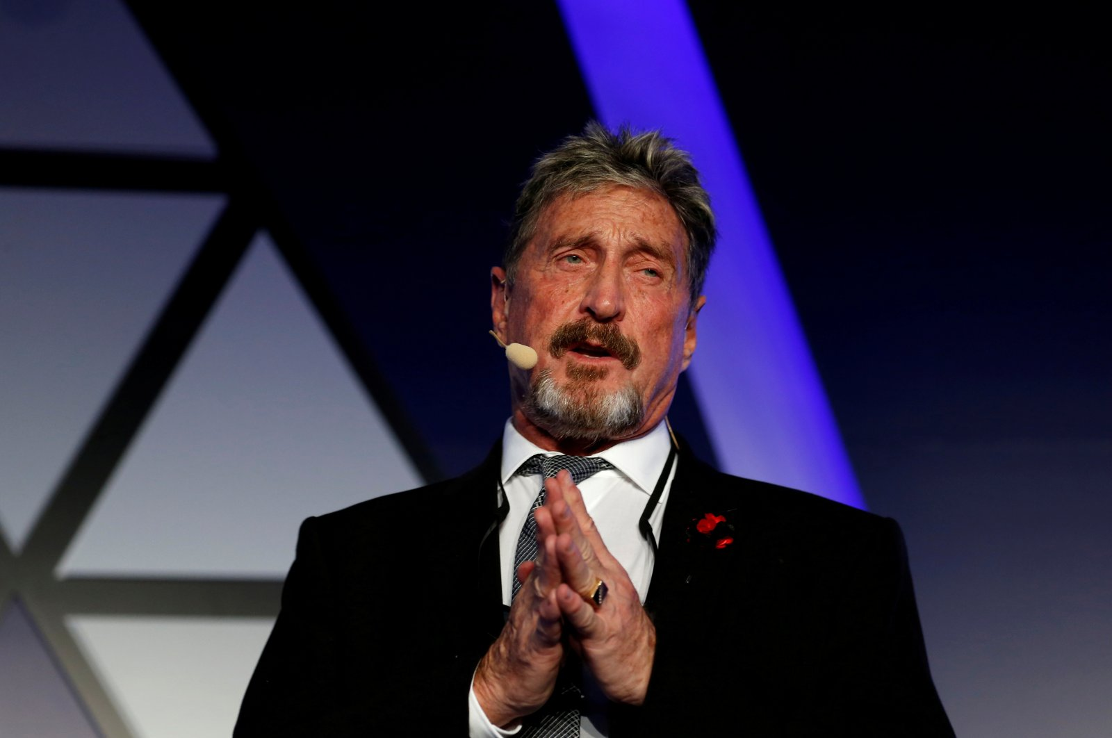 John McAfee, co-founder of McAfee Crypto Team, CEO of Luxcore and founder of McAfee Antivirus, speaks at the Malta Blockchain Summit in St. Julian's, Malta Nov. 1, 2018. (Reuters Photo)