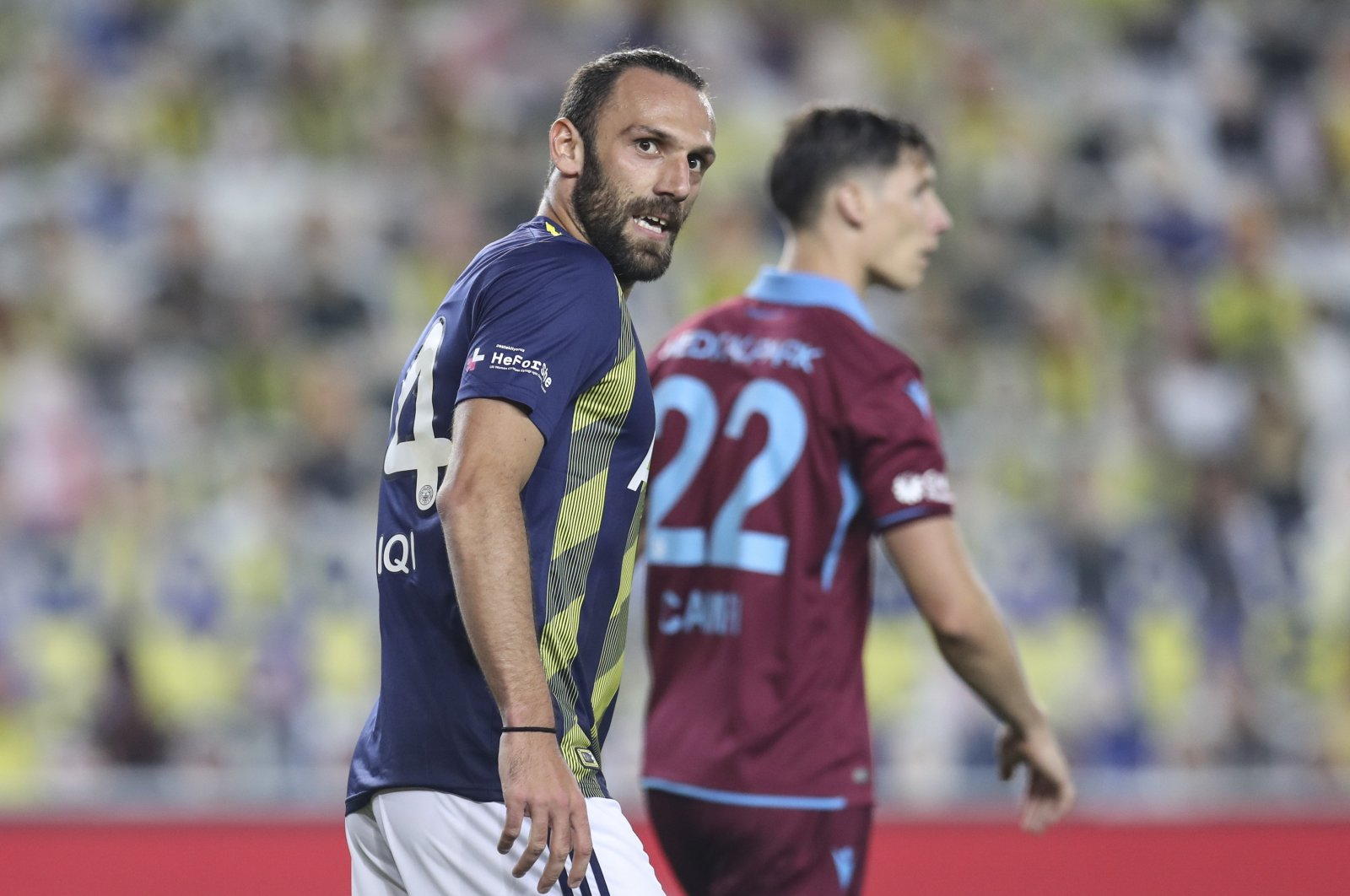 Former Fenerbahçe player Vedat Muriqi became the most expensive outward transfer in the Süper Lig after his move to Serie A side Lazio. (AA Photo)