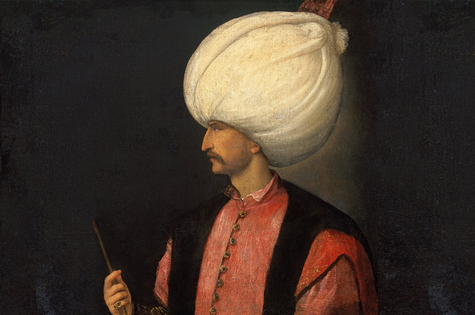 The portrait of Suleiman the Magnificent attributed to Italian painter Titian, oil on canvas, 99 by 85 centimeters, selected from Kunsthistorisches Museum, Vienna, Austria. (Courtesy of SSM)