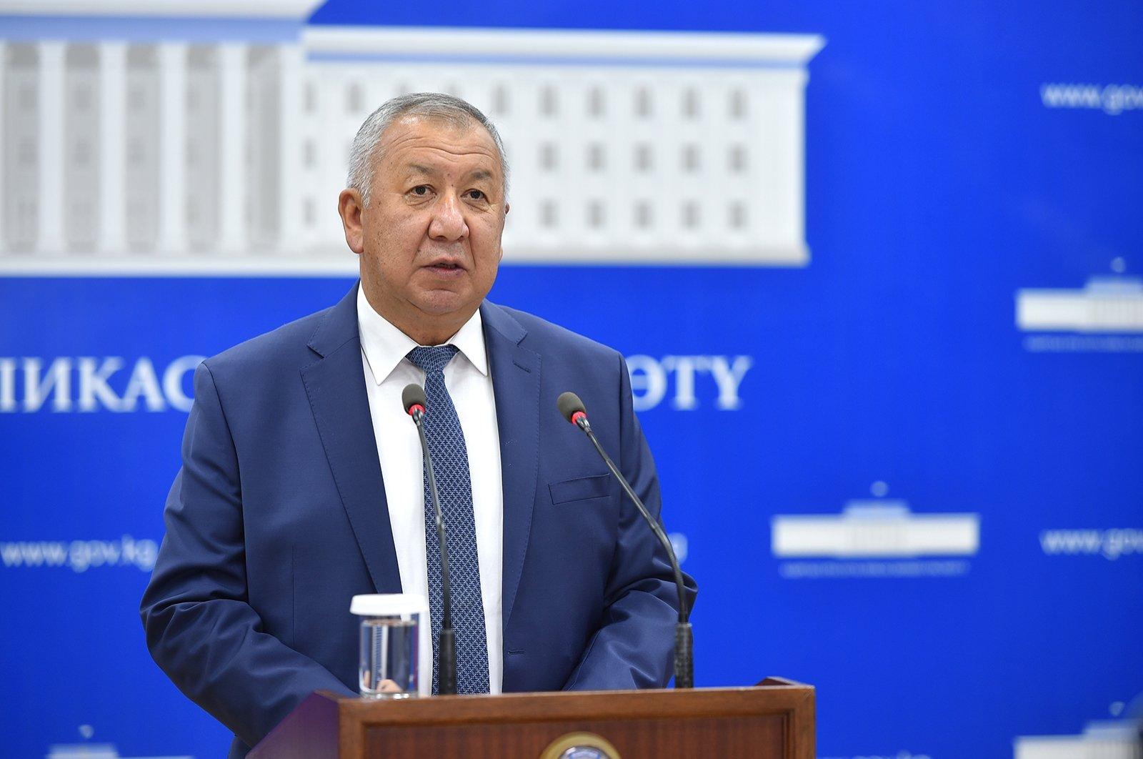 Kyrgyz Prime Minister Kubatbek Boronov resigns following protests. (AA Photo)