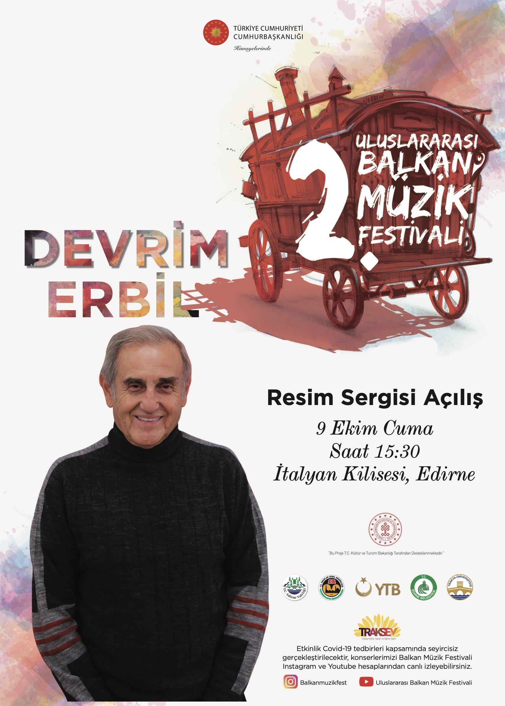 A poster of the festival shows Devrim Erbil.