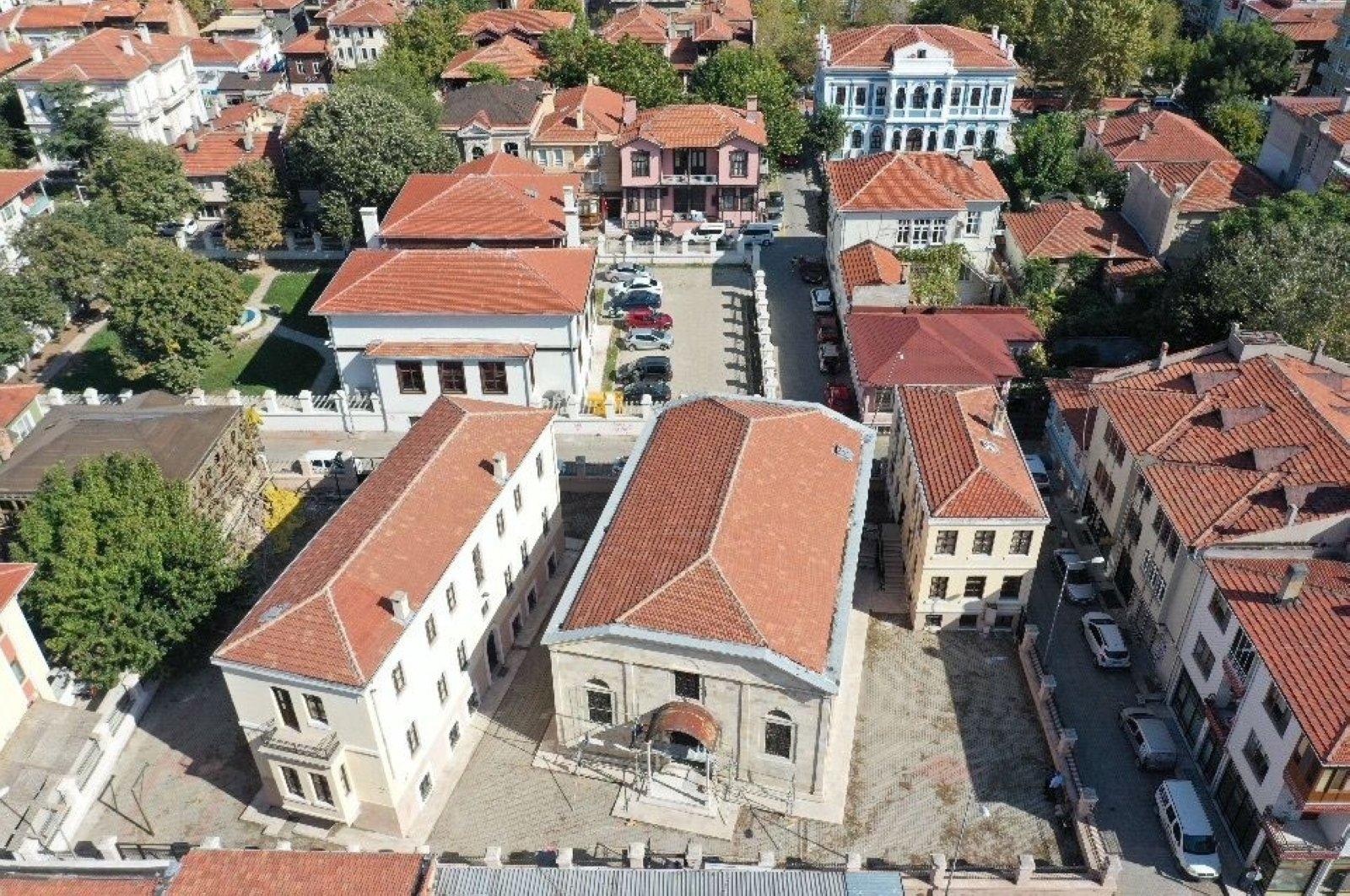 An aeriel view of the Italian Church, where the festival will be organized, Edirne, northwestern Turkey. (AA Photo)