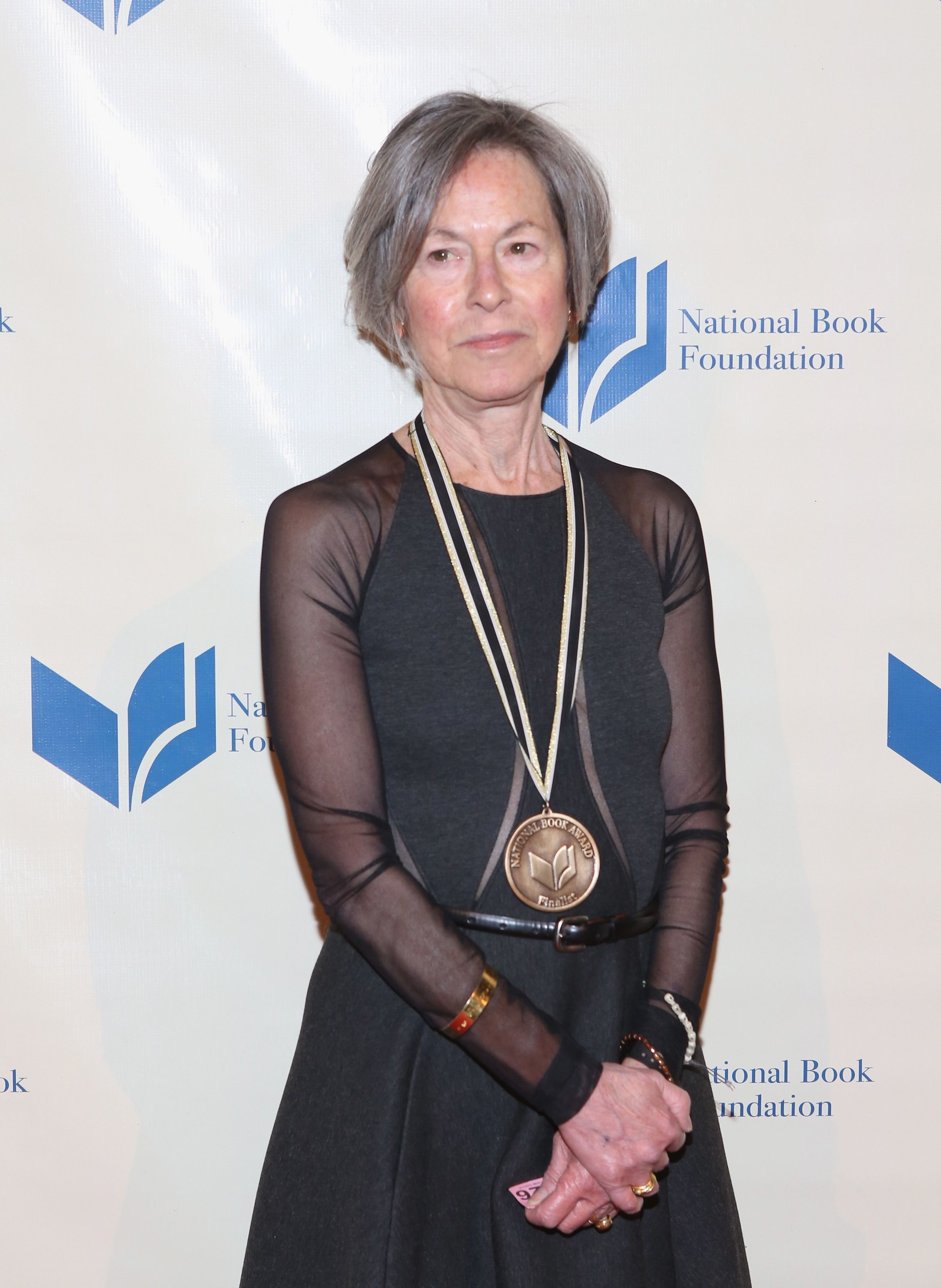 This file photo taken on Nov. 19, 2014, shows Louise Gluck attending the 2014 National Book Awards in New York City. (AFP Photo)