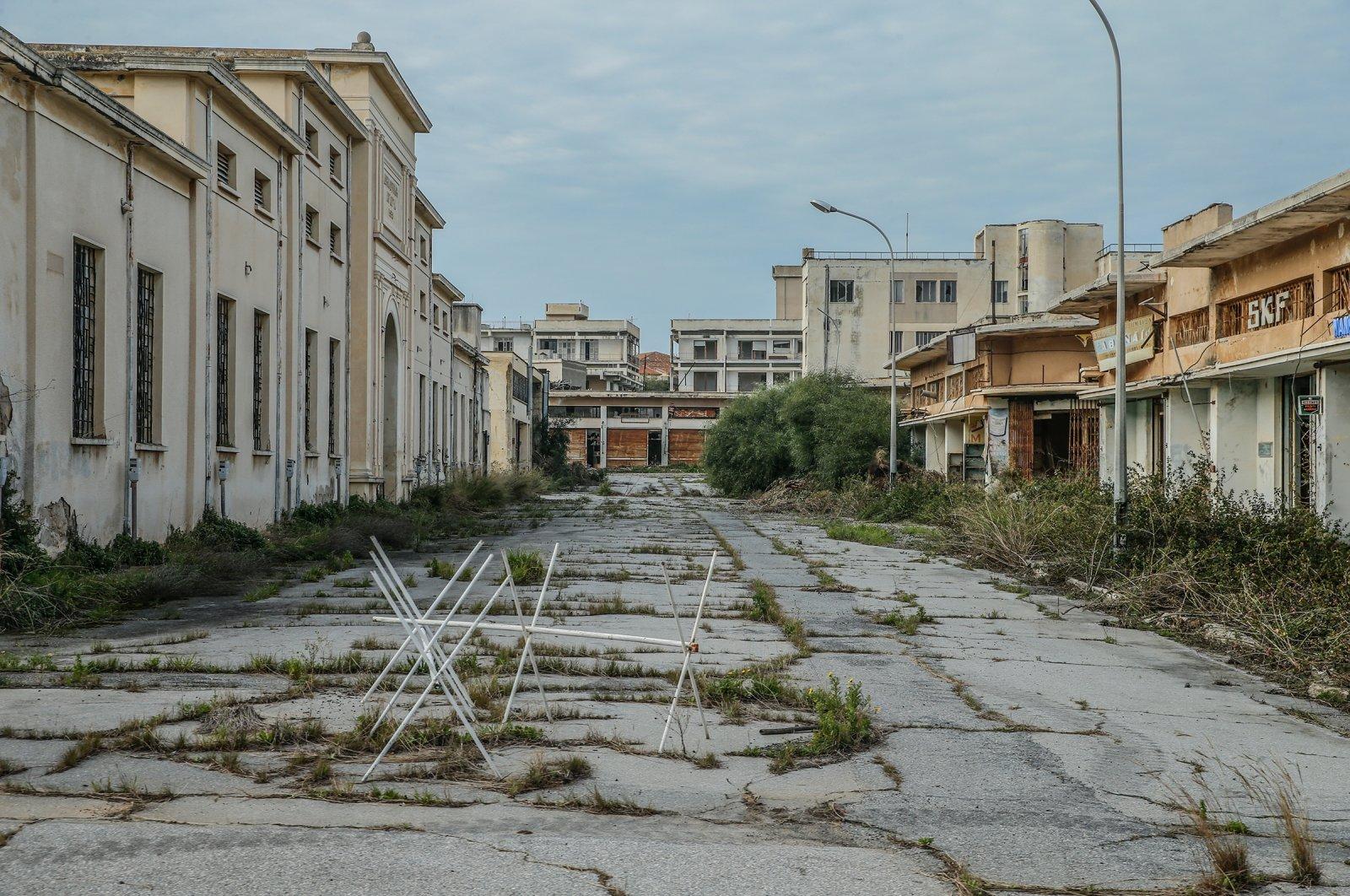 The abandoned town of Varosha (Maraş) on Oct. 8, 2020. (AA Photo)
