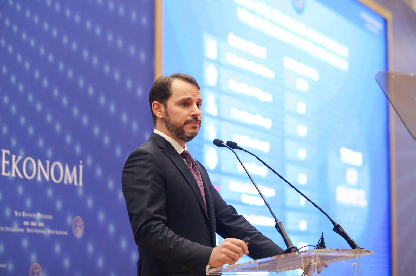 Treasury and Finance Minister Berat Albayrak presenting the new economic program in Ataşehir, Istanbul, Sept. 29, 2020. (AA Photo)